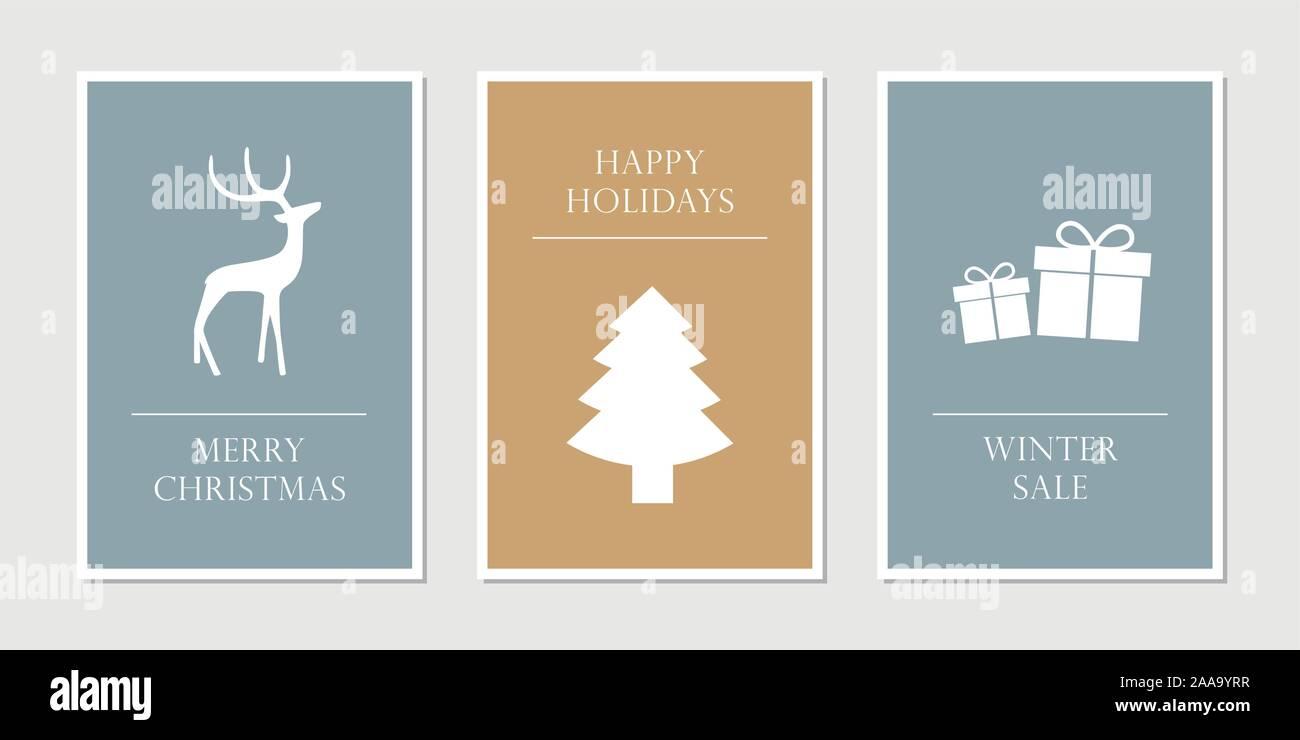 GrußKarte aus Holz Geschenk Karte Weihnachtskarte Merry Christmas Nikolaus Bäume