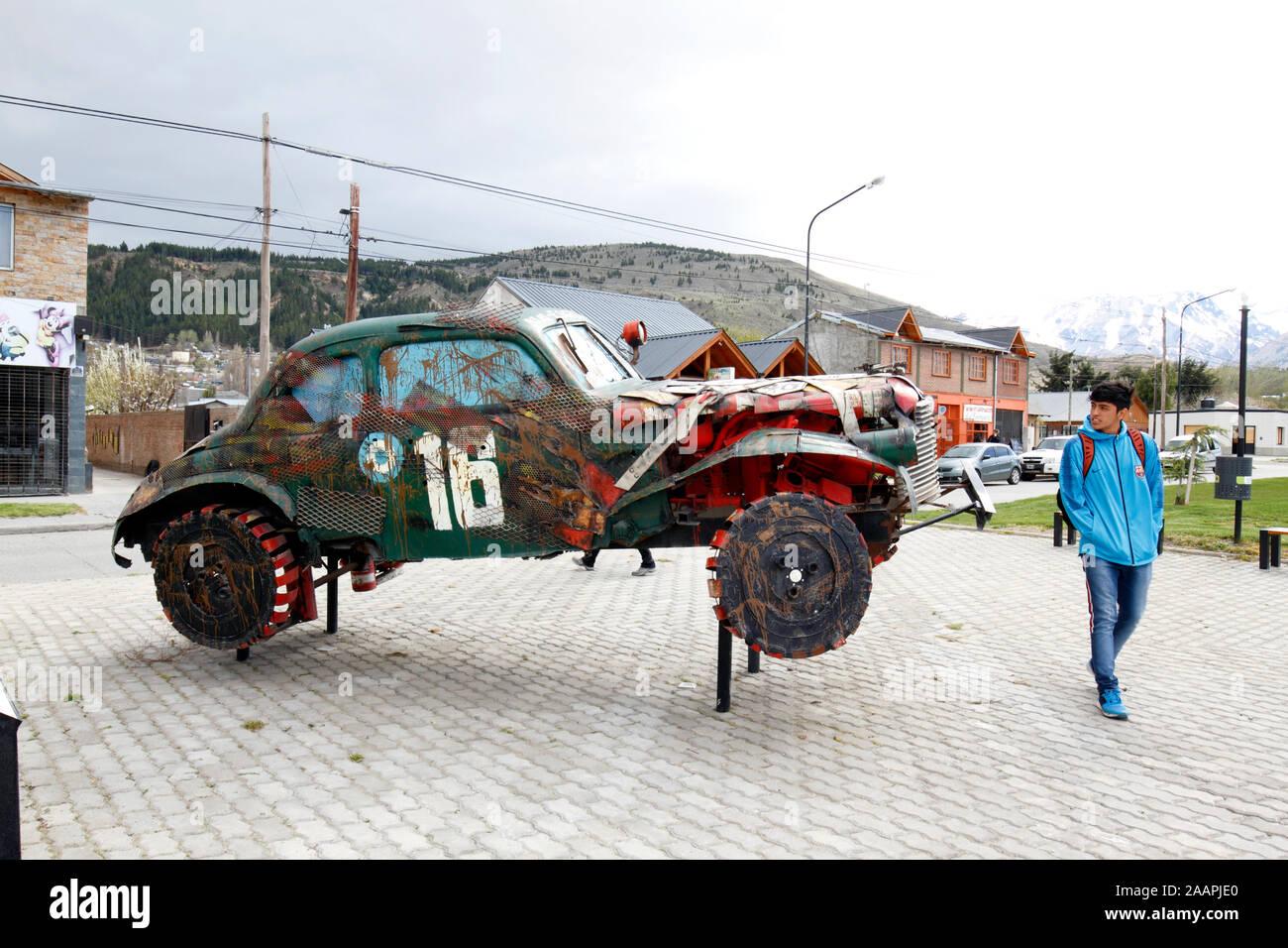 1940 Chevrolet Denkmal für die Gran Premio del Sur 1942 in Argentinien. Stockfoto