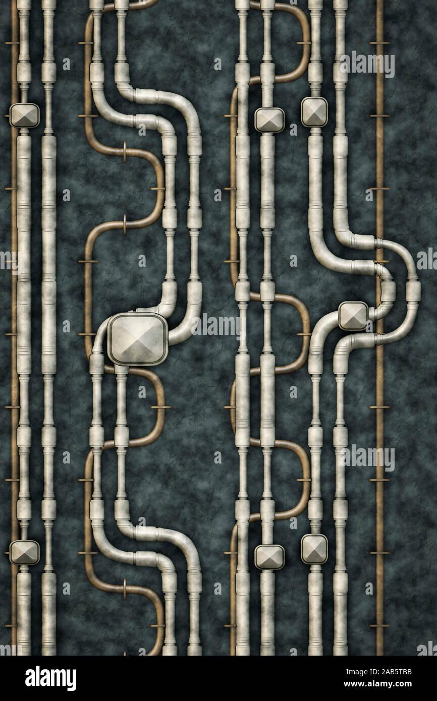 Ein Hintergrund, bestehend aus Leitungen Stockfoto