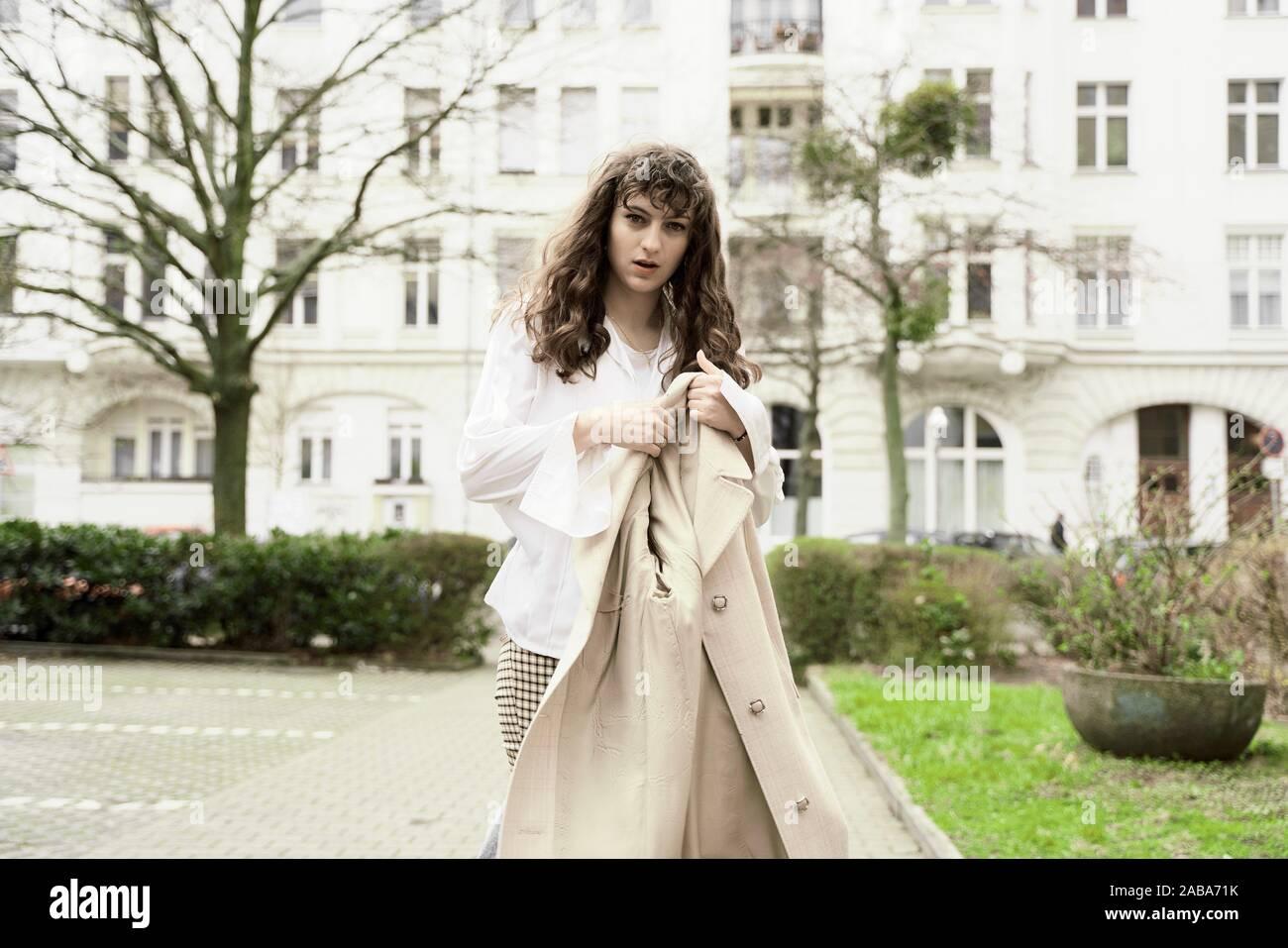 Junge Frau, in Berlin, Deutschland. Stockfoto