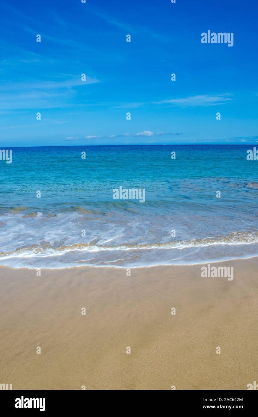 Hapuna Beach, entlang der grossen Insel von Hawai'i Kohala Küste. Dieses White Sand Beach hat einen der besten Strände der Welt Zeit und Zeit bewertet. Stockfoto