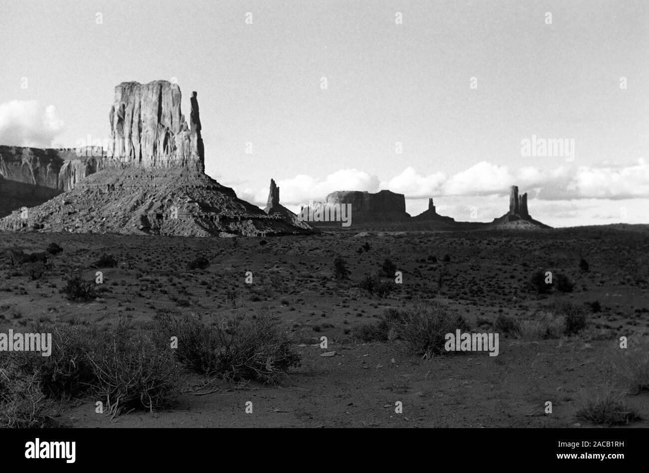 Monument Valley in Utah/Arizona, 1962. Monument Valley in Utah/Arizona, 1962. Stockfoto