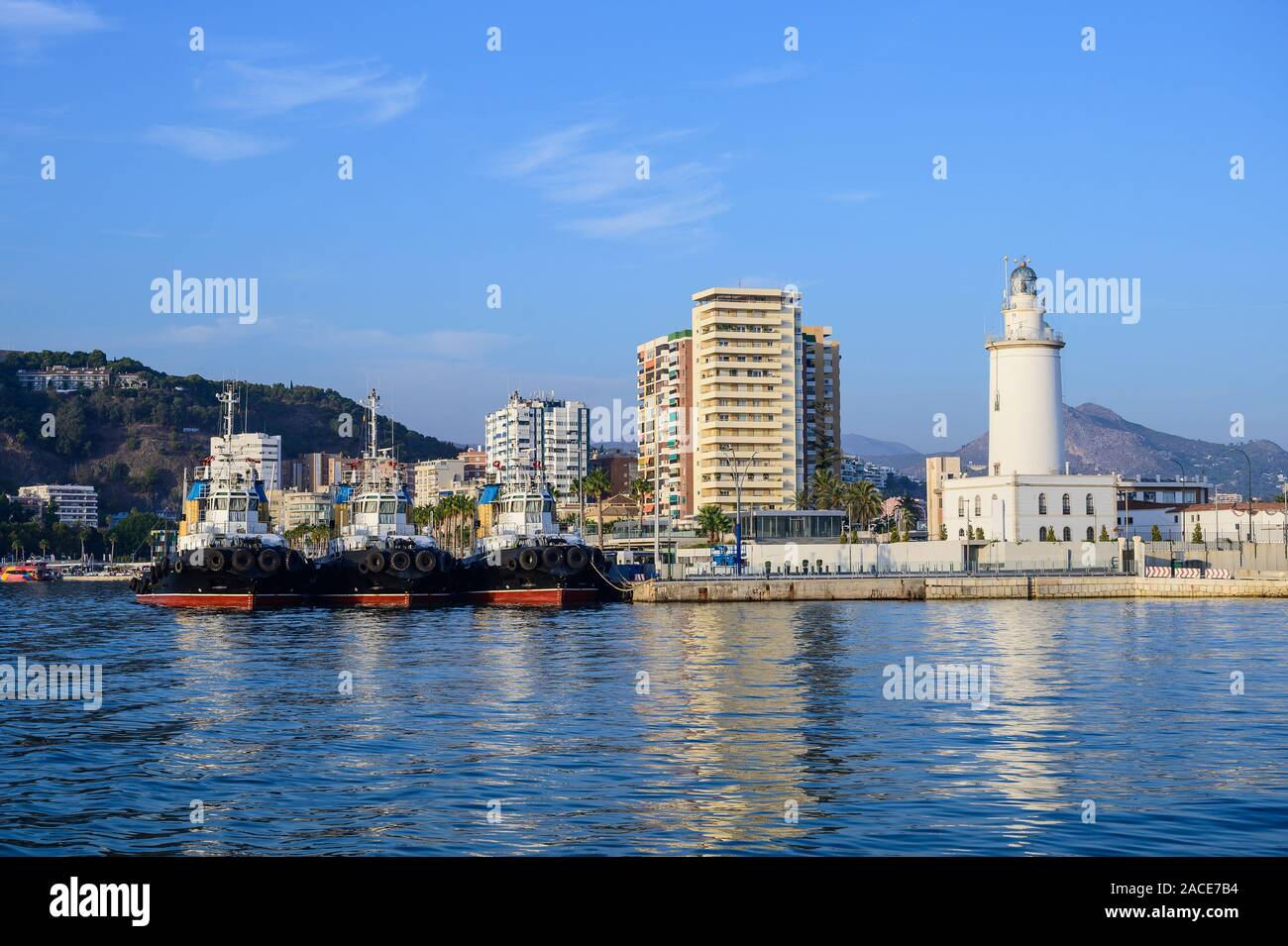 Der Hafen von Malaga, Malaga, Spanien Stockfoto