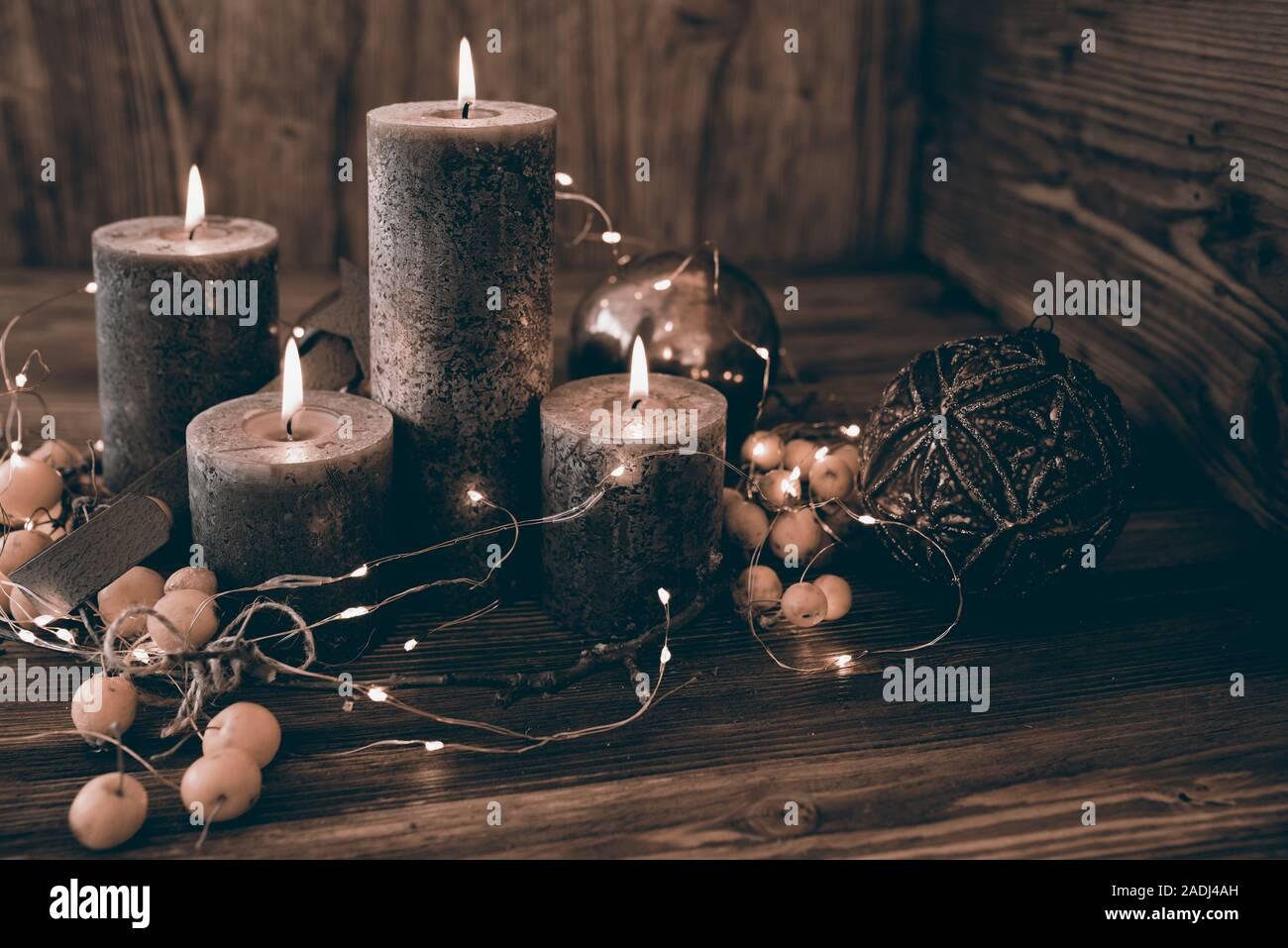Kerzenlicht, Kerzen, Advent Stockfoto