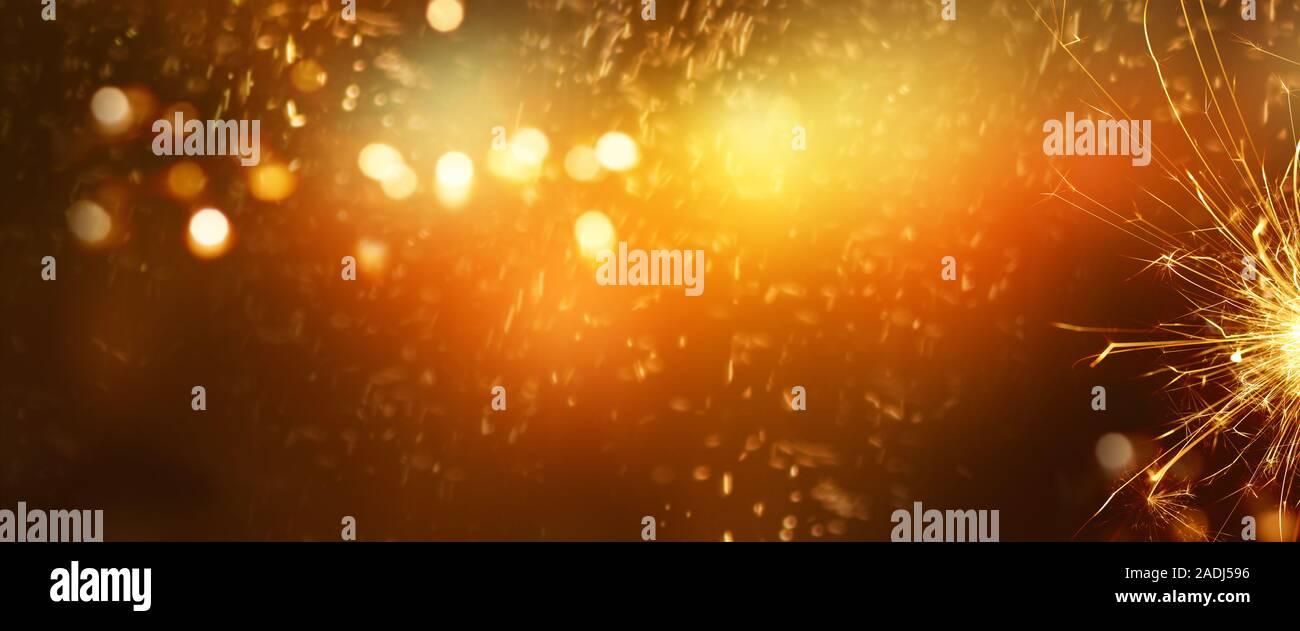 Lampen, Feuerwerk Stockfoto