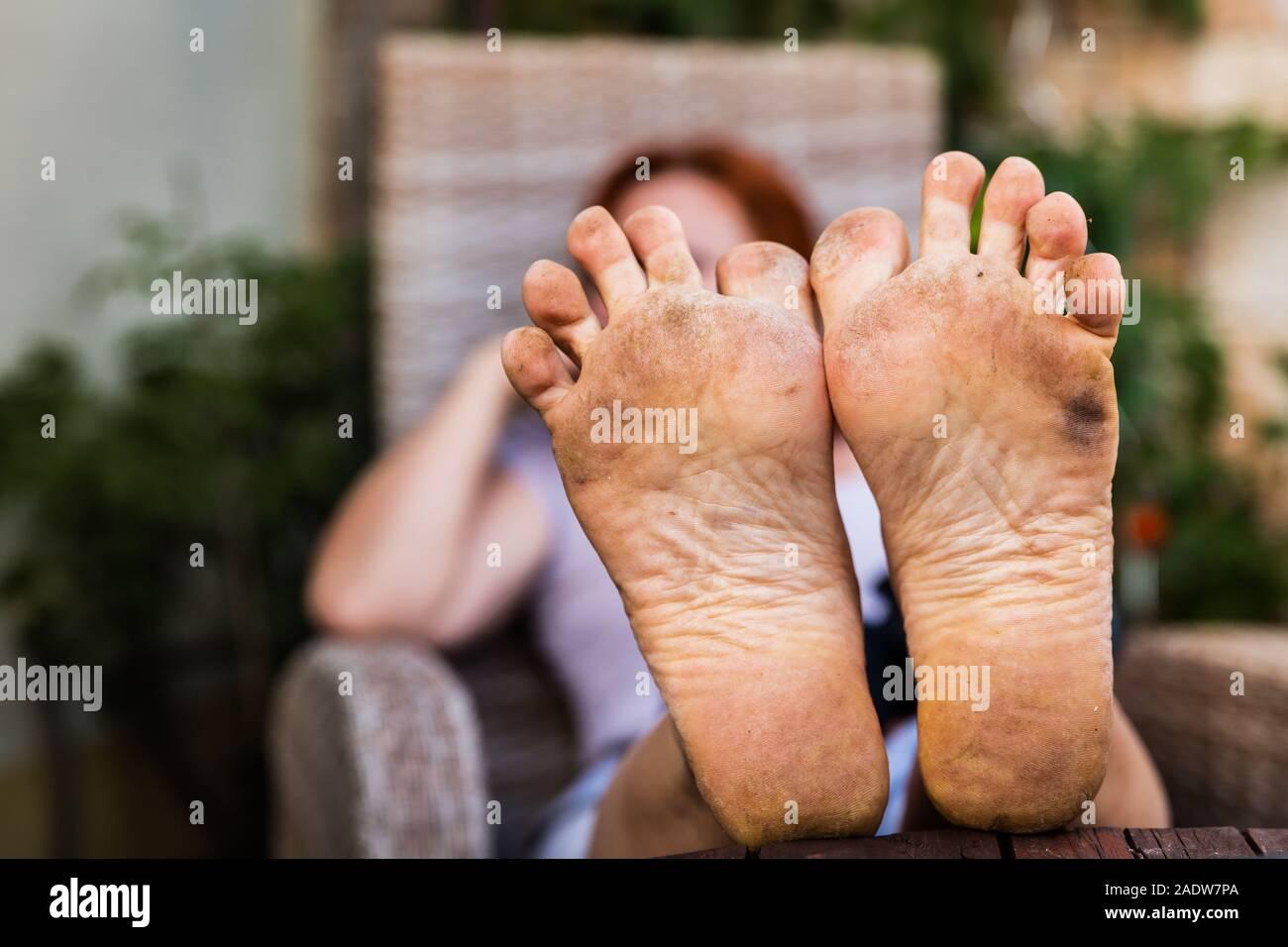 Schwarz Mädchen Weiß Sklaven Füße