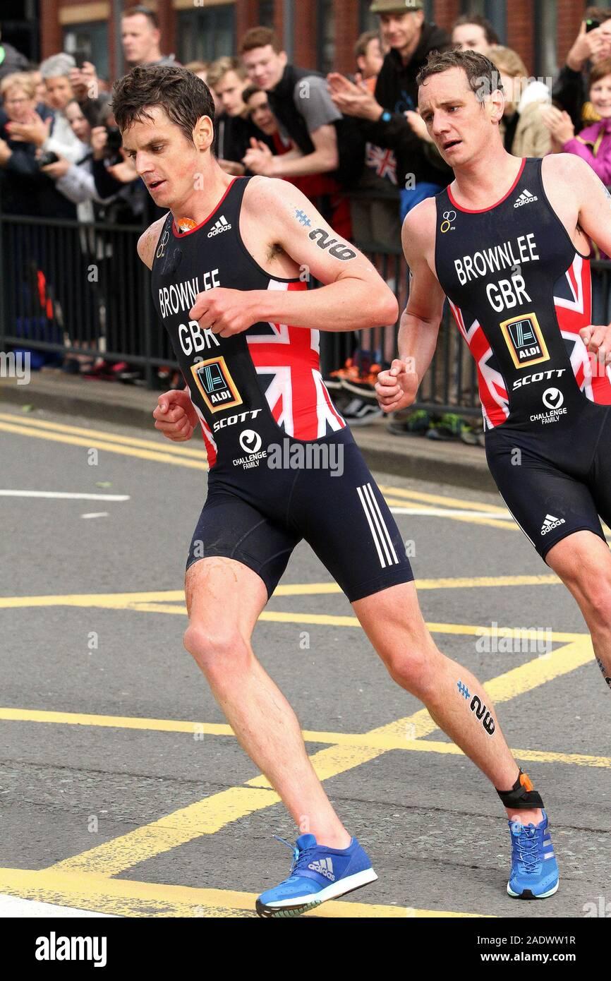 Jonathan Brownlee (Großbritannien), ITU der WTS Männer Leeds Triathlon 2017 Stockfoto