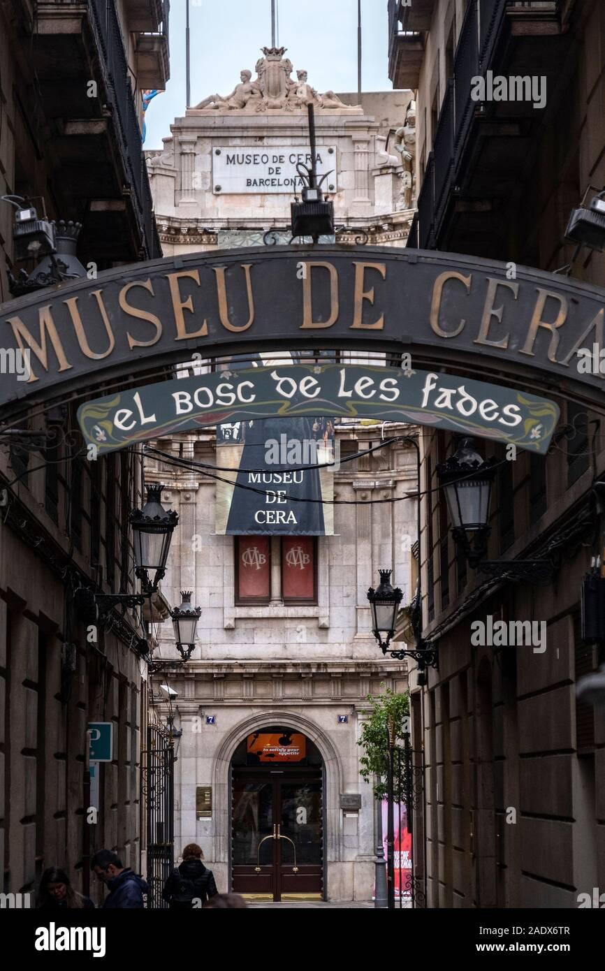 Museo de Cera Wax Museum in Barcelona, Spanien, Europa Stockfoto