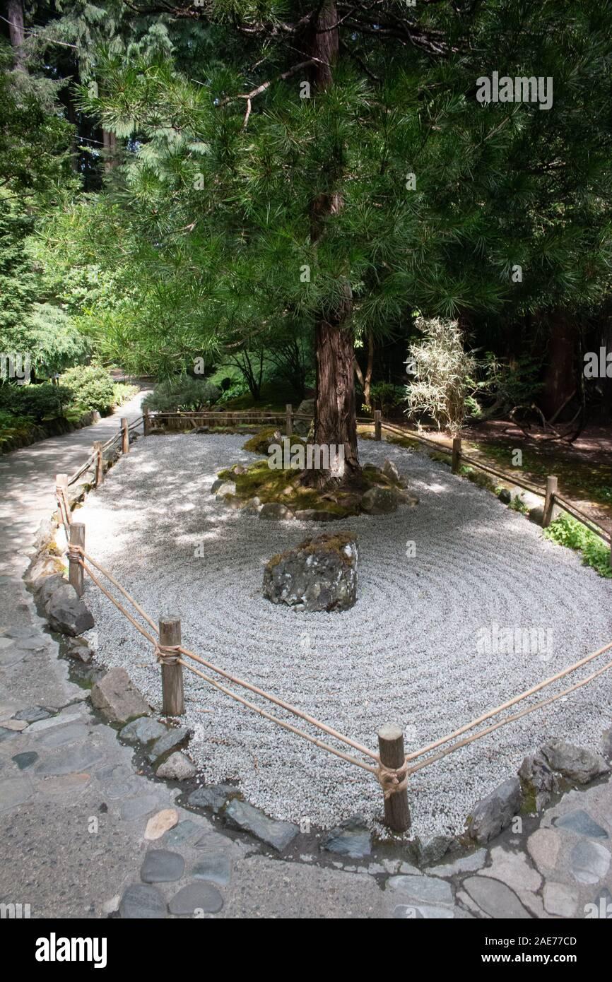 Japanischer Garten Butchart Gardens Victoria Vancouver Island Kanada Stockfoto