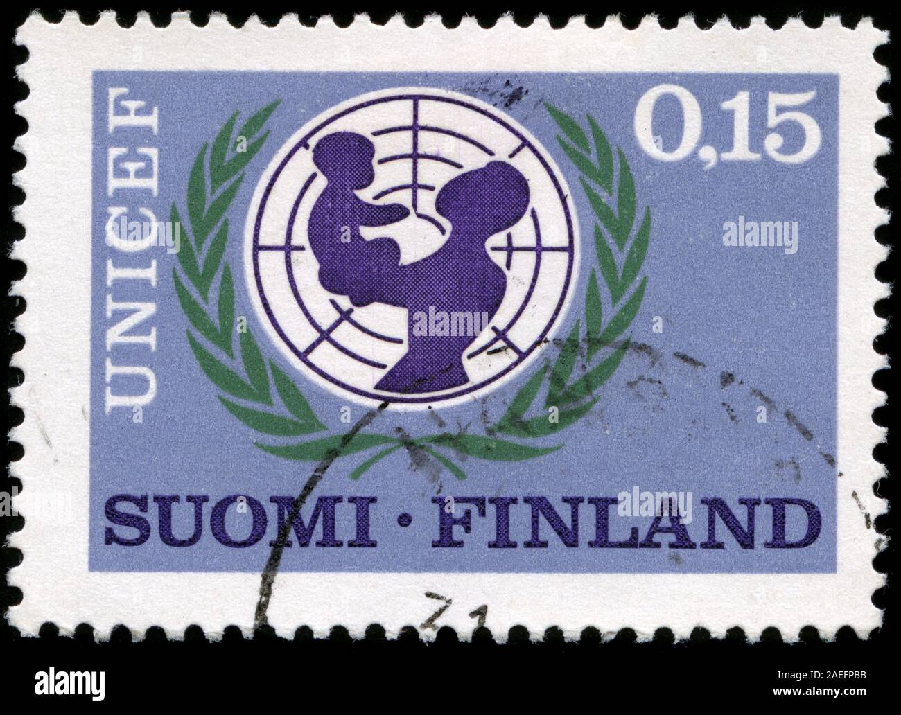 UNICEF Abzeichen Stockfoto