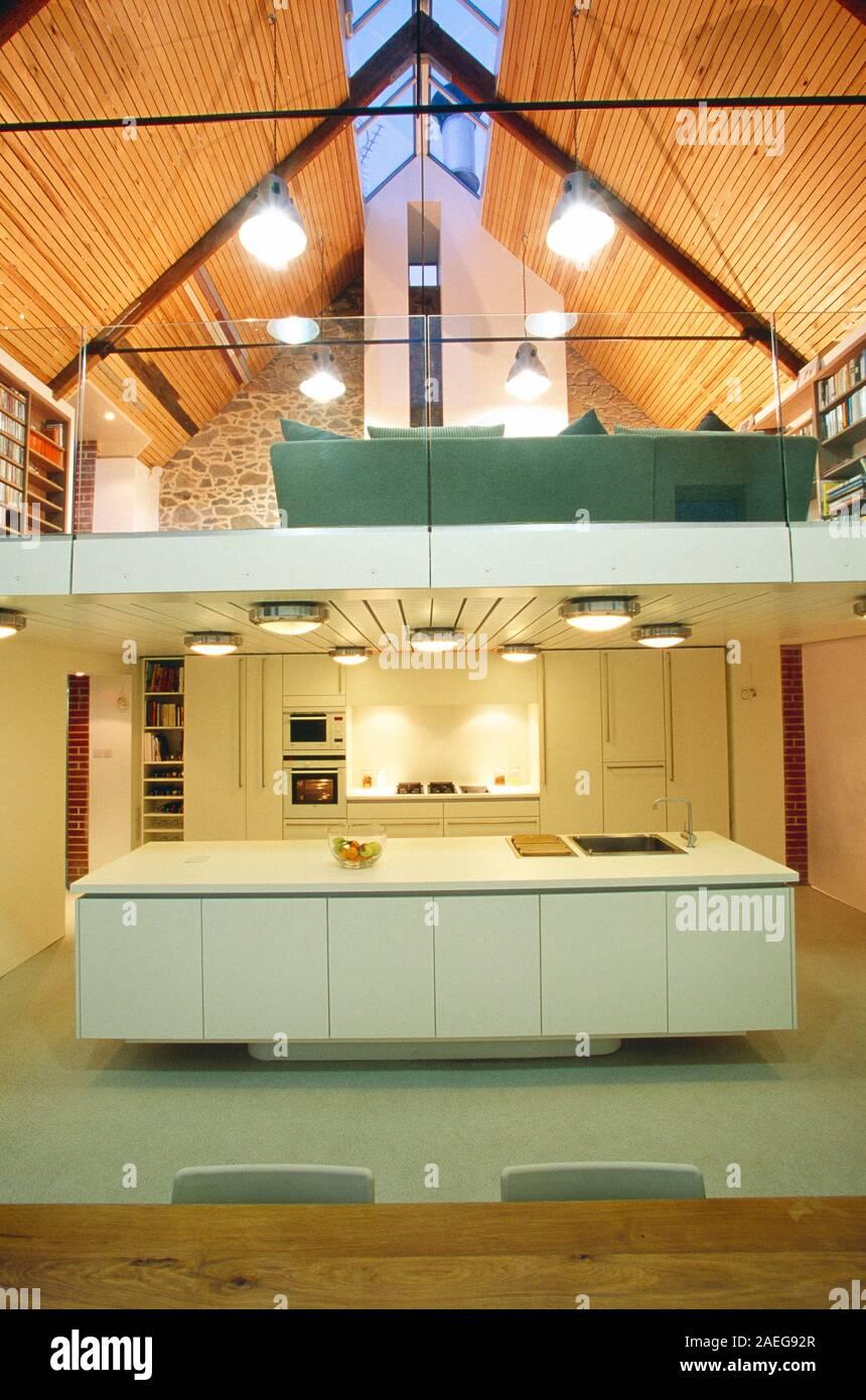 Contemporary Home Mezzanine Stockfotos & Contemporary Home ...