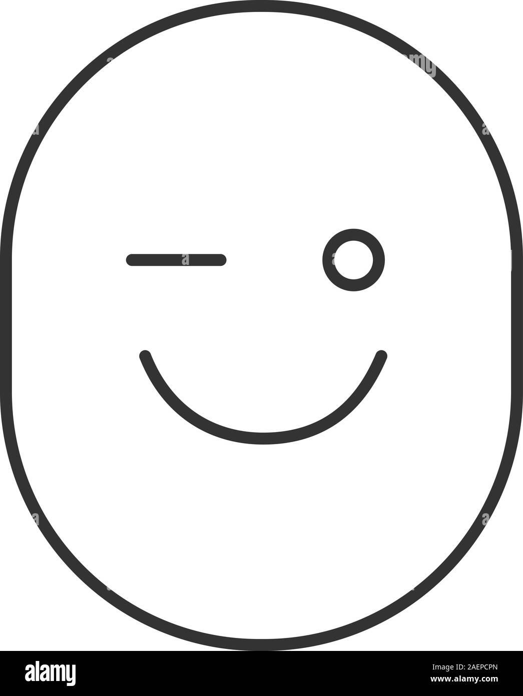 Zwinkern smileys schwarz weiß Outlook Smileys: