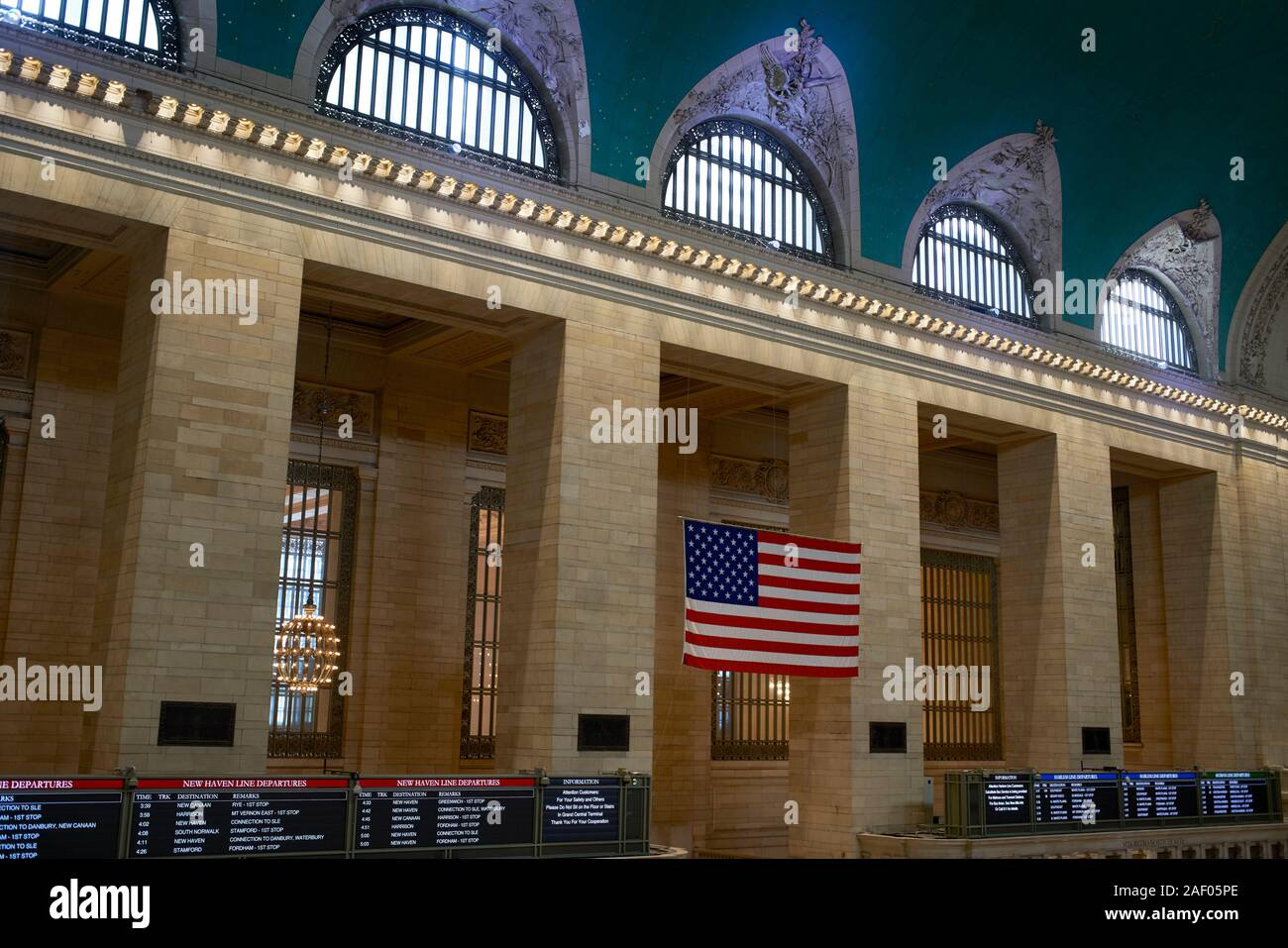 Innenraum des Grand Central Station in New York City. Stockfoto
