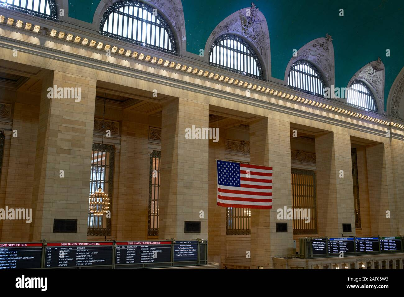 Innenraum des Grand Central Station in New York City. Stockfoto