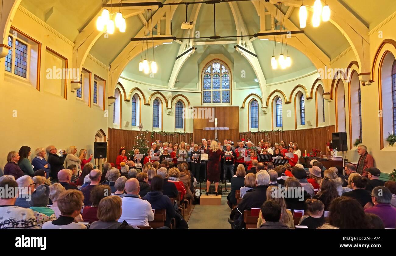 The Big Sing, Teil von, Lymm Victorian Weekend, Warrington, Cheshire, England, Großbritannien Stockfoto