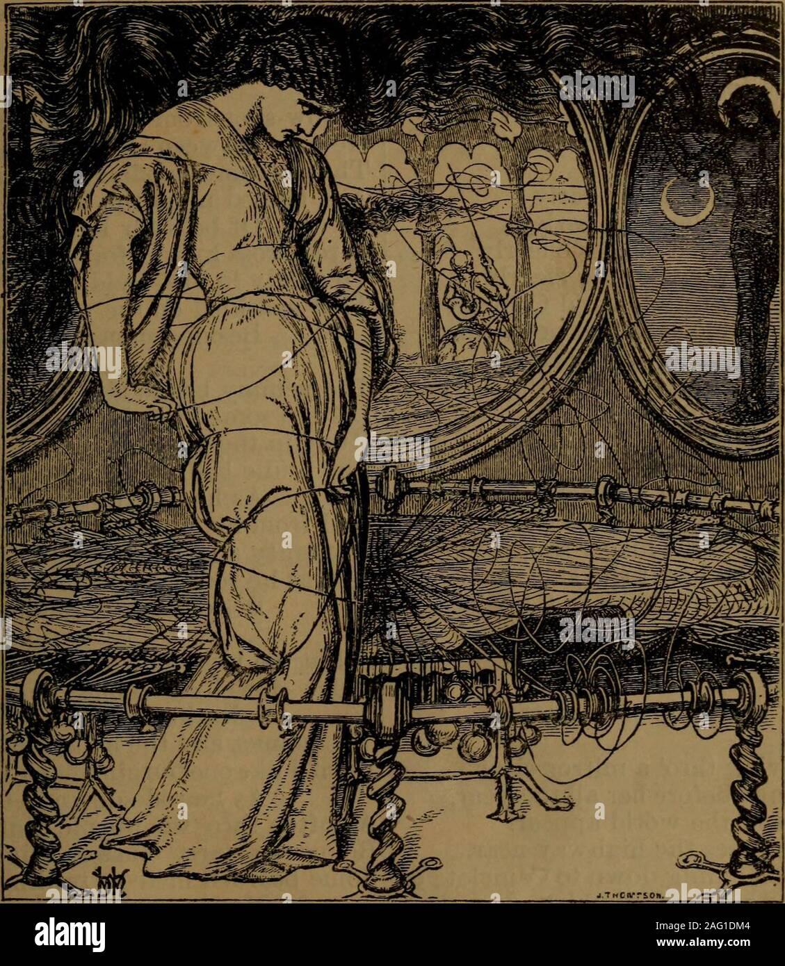 . Die poetische und dramatische Werke von Alfred Lord Tennyson. Wenn du wärest Mein, wie ich gehört habe, dass irgendwo in der Main, Süßwasser-Quellen kommen durch bittere Sole. Twere Freude, nicht Angst, claspt Hand in Hand mit dir, auf den Tod zu warten - stumm - unvorsichtige aller Übel, außer auf einem Berg, der surgeOf tho einige neue Flut von tausend hillsFlung Ligen der Roaring Schaum in den gorgeBelow uns, so weit auf wie Auge sehen konnte. 0 XITHE BRAUTJUNGFER Brautjungfer, ehe der glücklich Knoten gebunden war, deine Augen so geweint, dass sie kaum sehen konnte; und deine Schwester lächelte und sagte, keine Tränen für Mich! Ein glückliches Brautjungfer machen Stockfoto