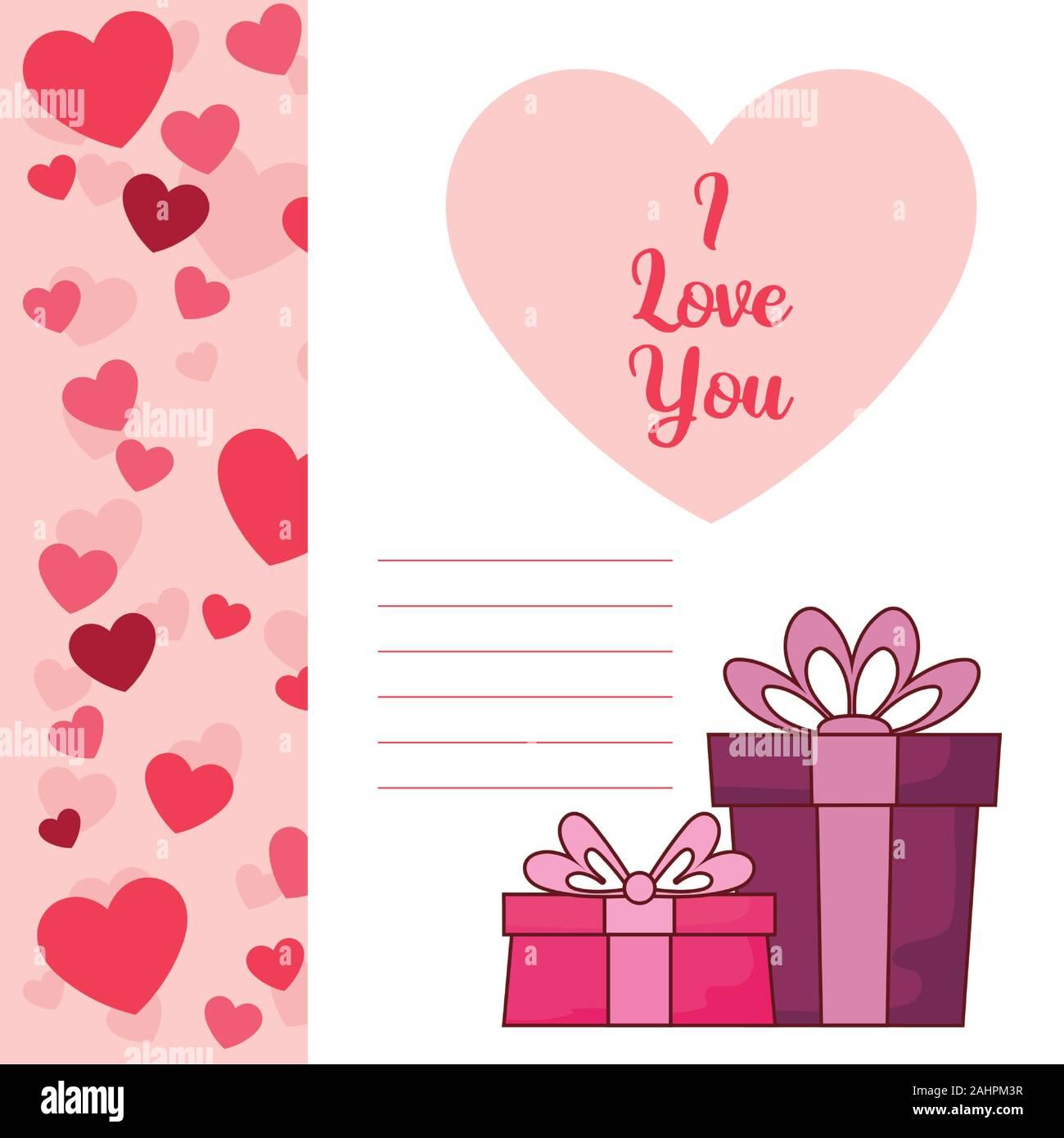 Geschenke Design Von Happy Valentines Tag Liebe Leidenschaft Romantische Hochzeit Dekoration Und Ehe Thema Vector Illustration Stock Vektorgrafik Alamy