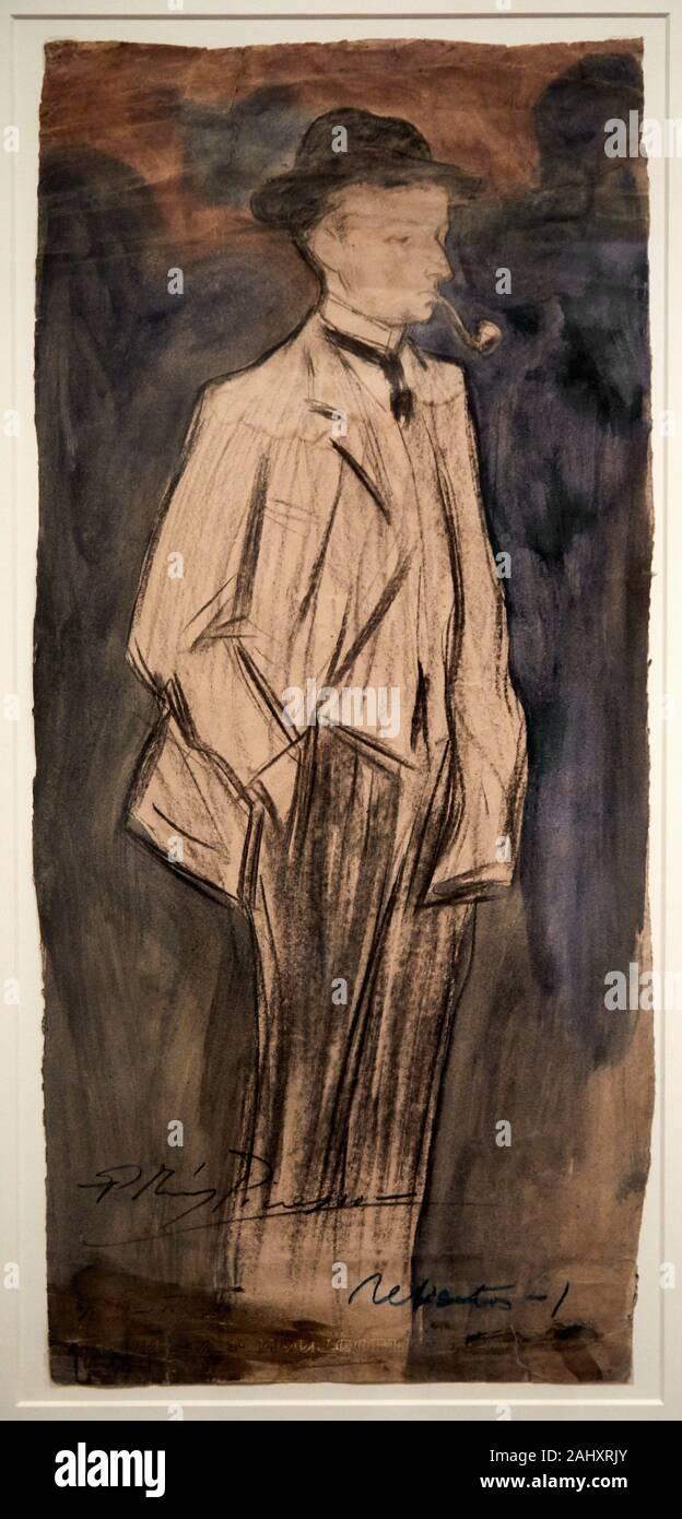 ''' Die Verfasser Ramon Reventos'', 1899-1900, Pablo Picasso (1881-1973), Museu Picasso Museum, Barcelona, Katalonien, Spanien Stockfoto