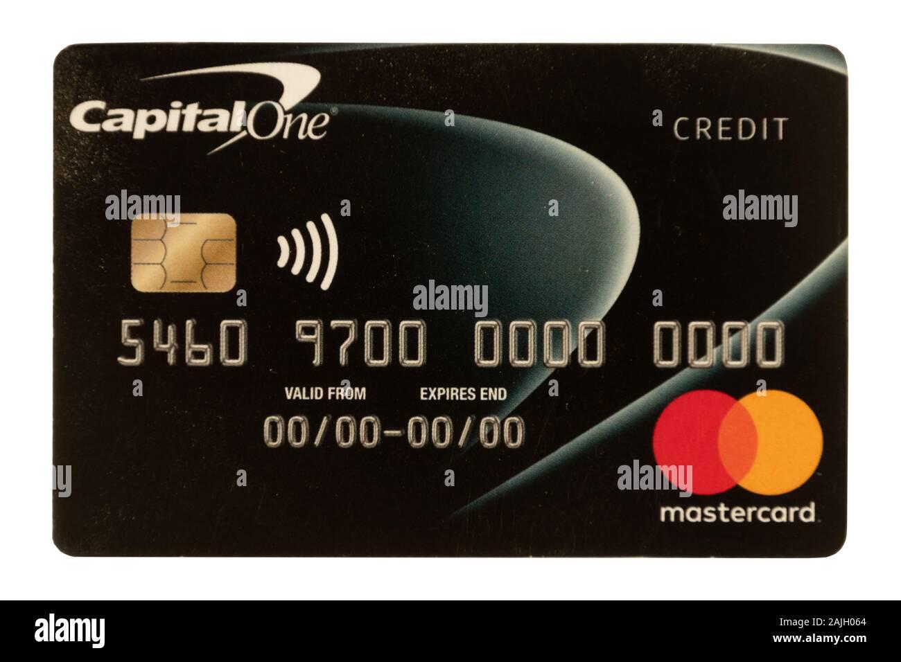 Capital One Mastercard Kreditkarte Stockfotografie - Alamy