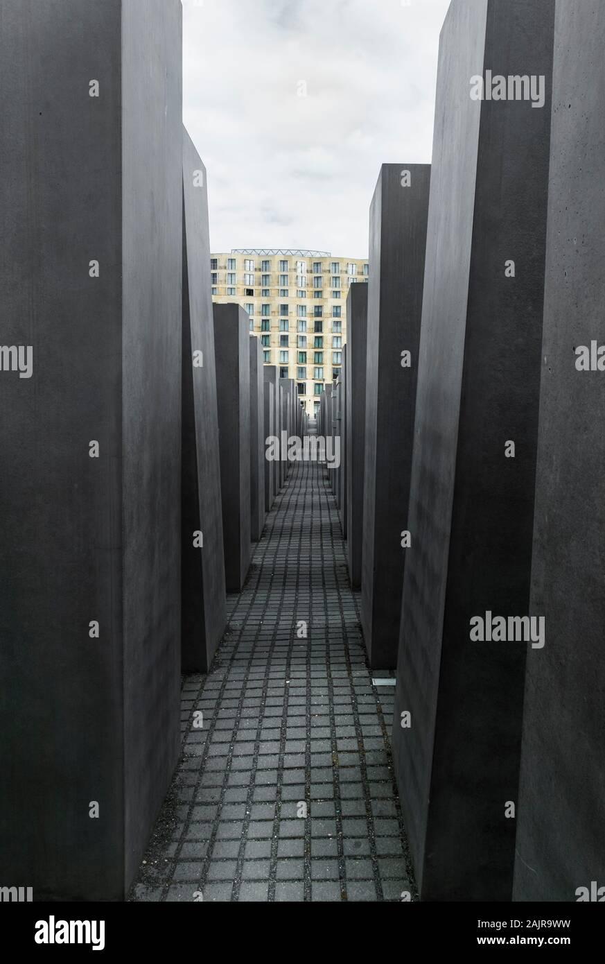 Denkmal für die ermordeten Juden Europas Stockfoto