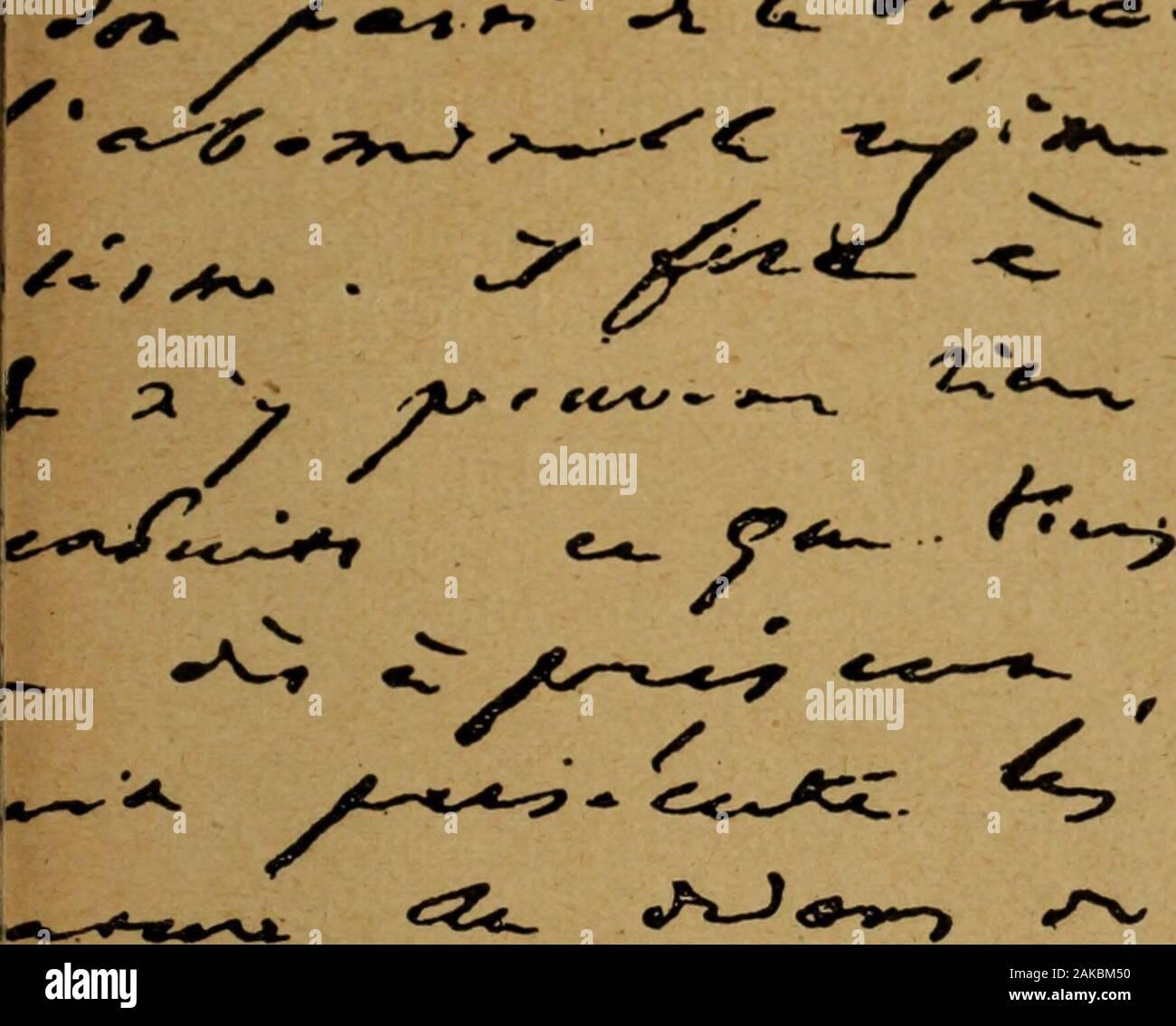 """L'Envers de la Gloire: medical scale et Dokumente inedits sur Victor Hugo. - ERenan. - Émile Zola. - Edgar Quinet.-Le PDidon.- Ferdinand Fabre.-Rachel. - Le Prince de Monaco - ChGarnier. - Hervé. - Marie Dorval. - frédérick Lemaître. - Marie Laurent. - Henri Heine. - Alfred de Musset. - Gavarni, etc., etc.. *^> v^g """"^j""""^* L. € ^y^e* -^ Xj^ vr^^^/-/ ^^^^-ty^/C^r, ^,^^^^^^^ ér £ t< Fragment de la Lettre du 8 mai,^* r""""^^ • A. ≪^ •^%*"""".<s.-. y* y oyée de Guernesey à M. Lacroix. 26 lenvers de la Gloire son Auteur, autant que ses mérites propres, Recom-mandait à Tadmiration publique. Les Éditions pieu Stockfoto"""