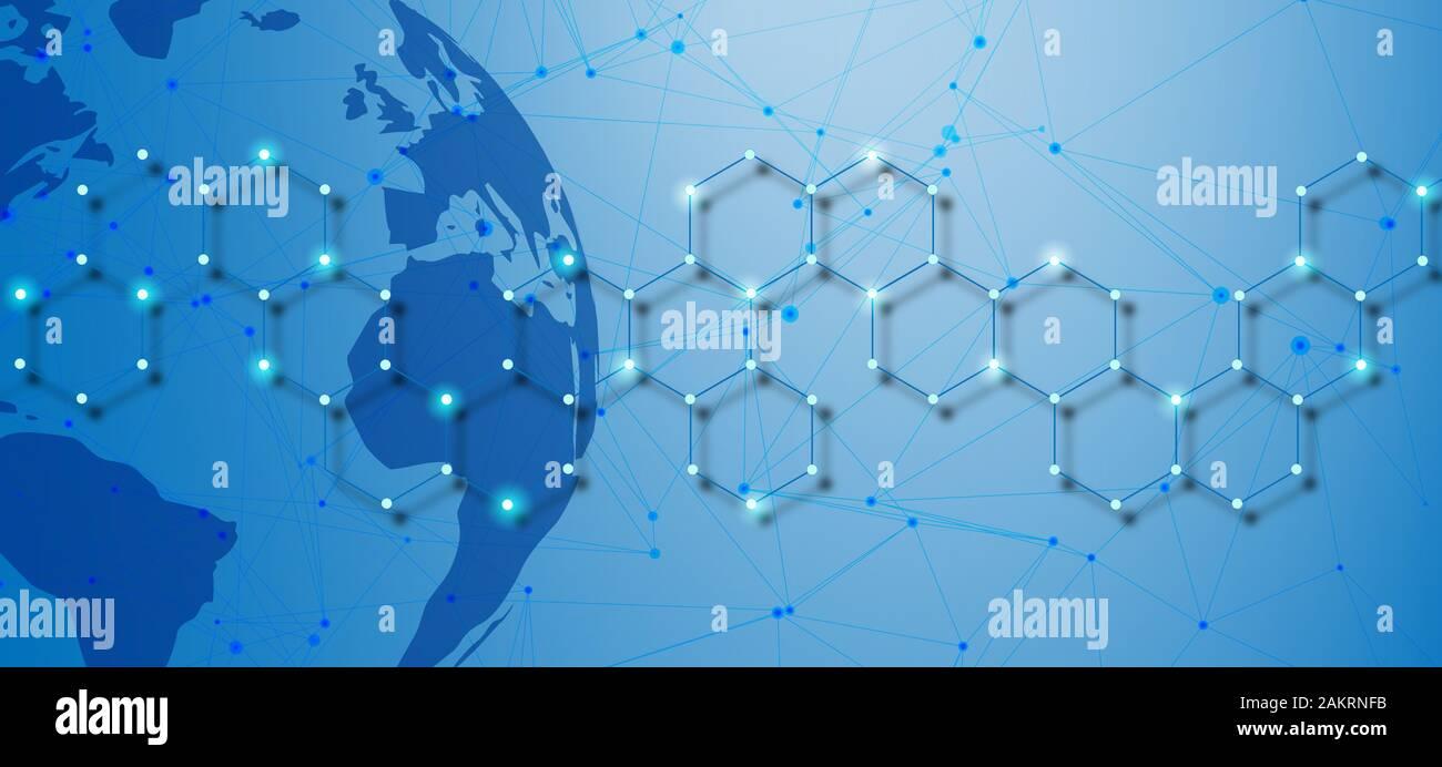 Technologie Netzwerk Verbindungen Stockfoto