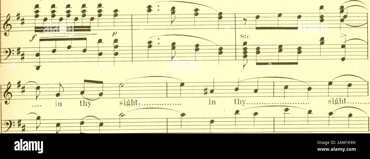 Der König David: ein Oratorium, das Leeds Musical Festival von 1883, der Text aus der Heiligen Schrift ausgewählt geschrieben. 145 ^ = P=f^^^-0 0 - Sie wissen,_eth Th. Es 1 liave gefunden^ Raco. ^^^^^^ dav Elb Herz_liev werden_eth, dass ich tind j^Rennen kann... in Deinem si^ht,^^ in Deinen si^ht,. im Tliy. 1^i^^^^^^^s^si si^ht. £* F* *.1 * f f I M - J. J I r J^0 Mein Herr König, mein Herr f S Pi^i:? Kin ein, mein Herr, 0^0 Herr, mein Gott, 0 Herr, mein Gott, 0 Herr meine wenn urj J J J J J^^* Stockfoto