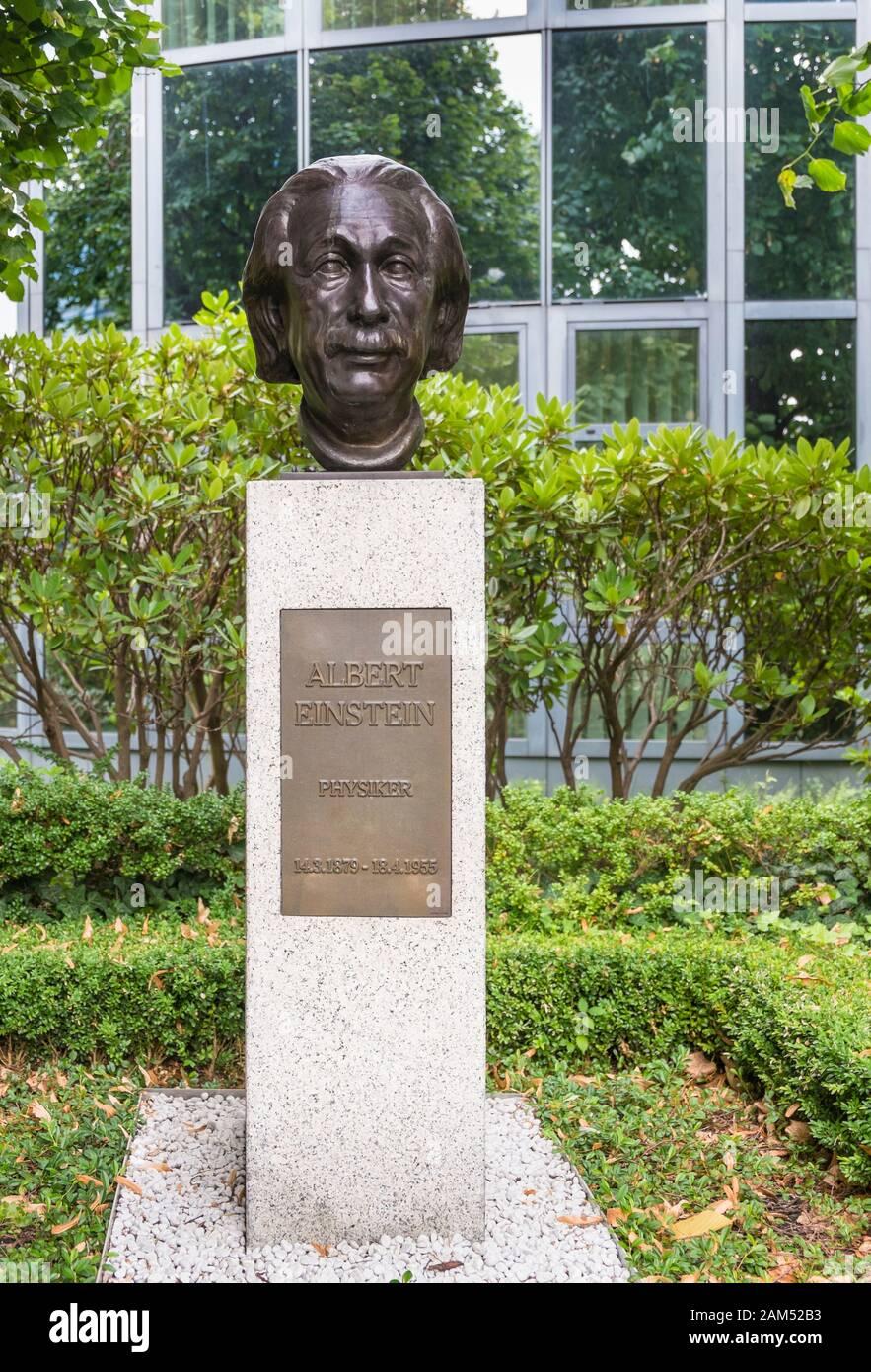 Albert einstein Büste an der Straße des Gedenkens, straße der erinnerung Stockfoto