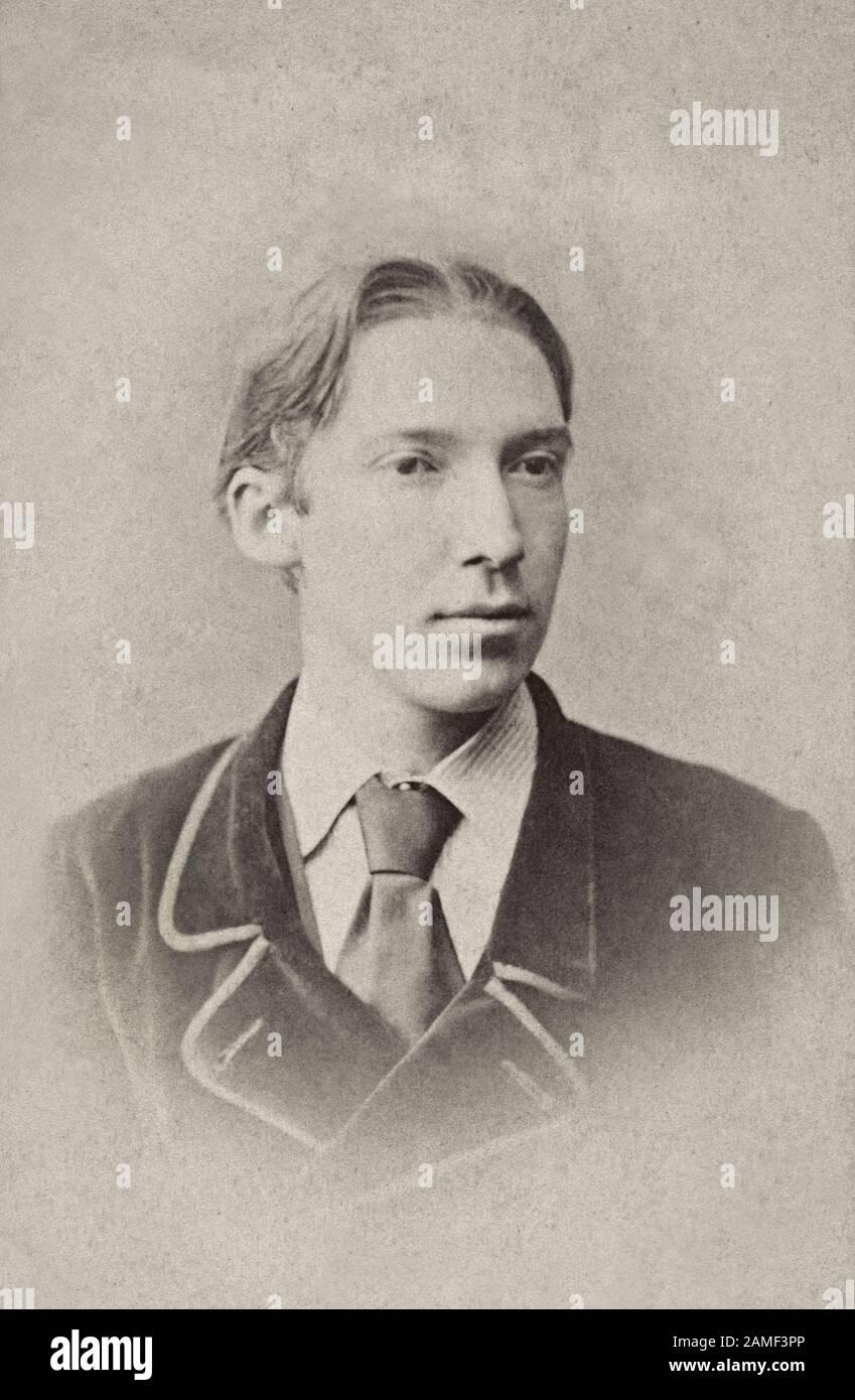 Robert Louis Stevenson (1850 - 1894) war ein schottischer Romanautor und Reiseschriftsteller, der am meisten für Treasure Island notiert war, Entführte, Seltsame Fälle von Dr. Jekyll a Stockfoto
