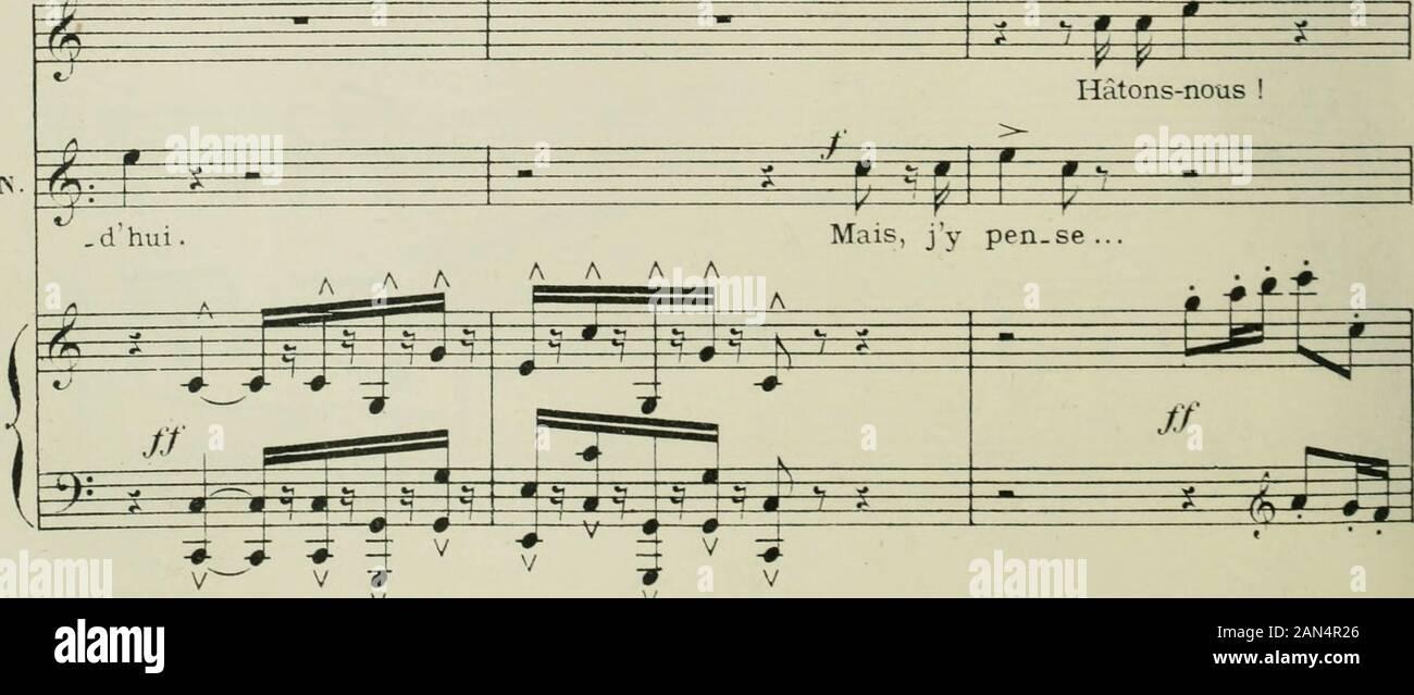 """Phryné; opéra-comique en deux actesPoème de LassusPartition LAugé de Chant et piano, réduite par l'auteur, avec un Dessin de FMarcotte. ^^I^tzE k k y u^y V V Inhalte - tez-vous, a_Mi, de la Mai. Sohn. U/^: S fe!-^ ZZl^3 E/A M CI ALS S?=^Z:-y^r-au-Kmr il faut Männer con_10_ter^: S I O P/r^^ Le (li"""" Iil) Ie plus Icnl #; d FHUY?< K. 59 r * * 1 =:?=? J> i j Ji>^p ft P0P-.^ï^i l f Un instant Le Tour quon ma Jou-é mé-ri-te récom------- m-*g^^ Jj J^o^ Il se rapproche du Buste de Dicéphileet le regarde En-face (iViC relut Stockfoto"""
