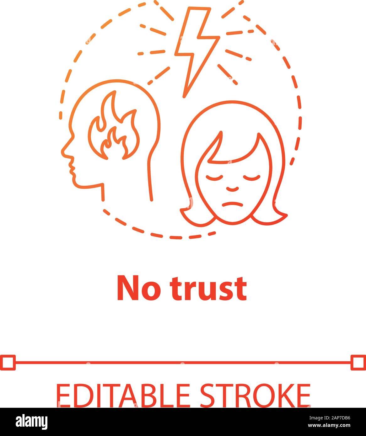 Der beziehung kein vertrauen in In einer