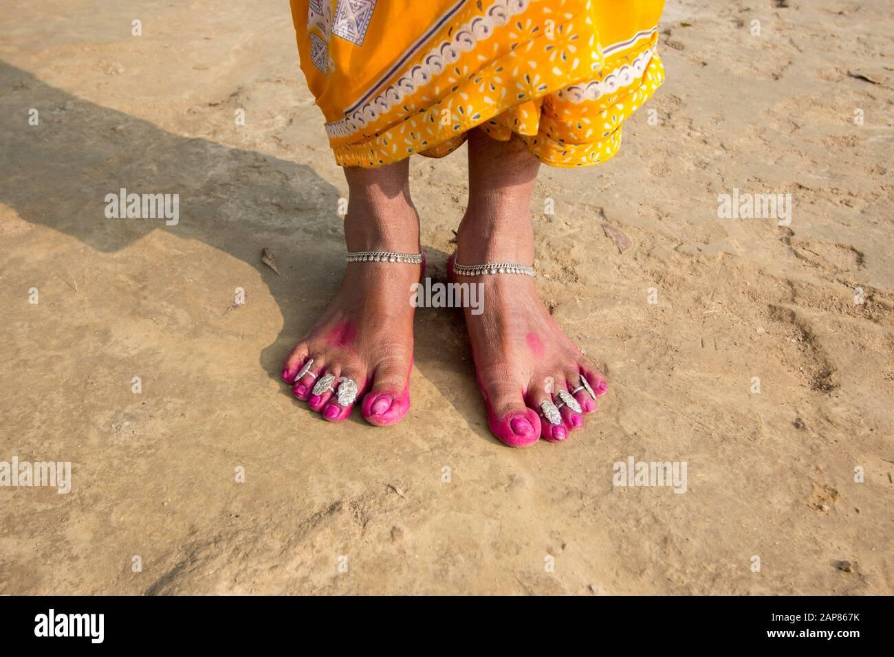 Schwarzes Mädchen Fuß Anbetung