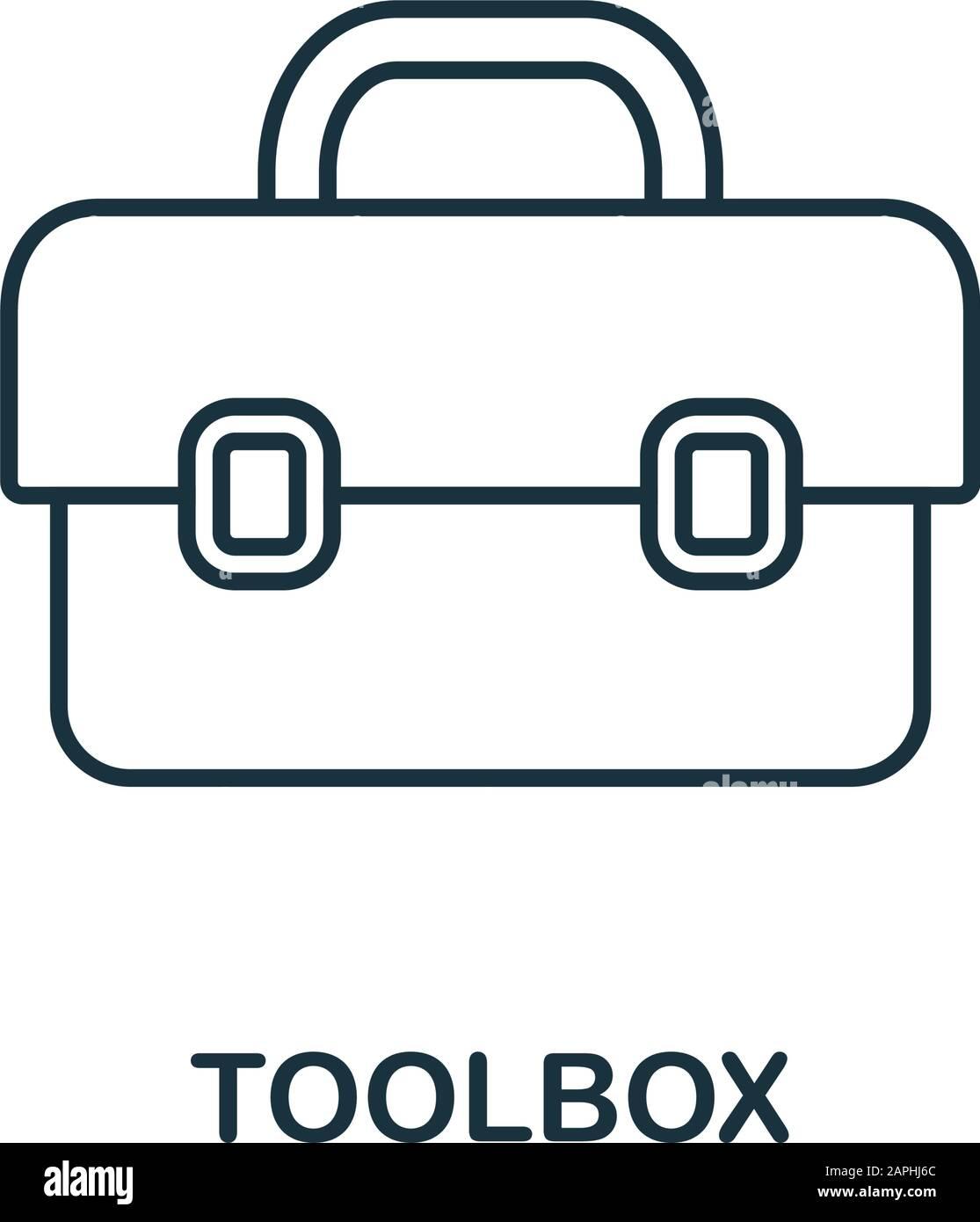 Symbol für Toolbox Linie. Thin Style Element aus der Bau Tools ...