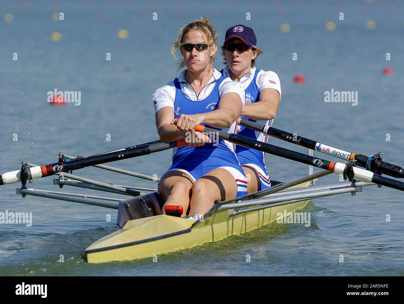 2005 FISA Team Cup, Rio Guadalquiver Rowing Course, Sevilla, SPANIEN; GBR W2X Double Scull, Sarah Winckless [links] und Katherine Grainger, Photo, © Peter Spurrier, intersport-images Stockfoto