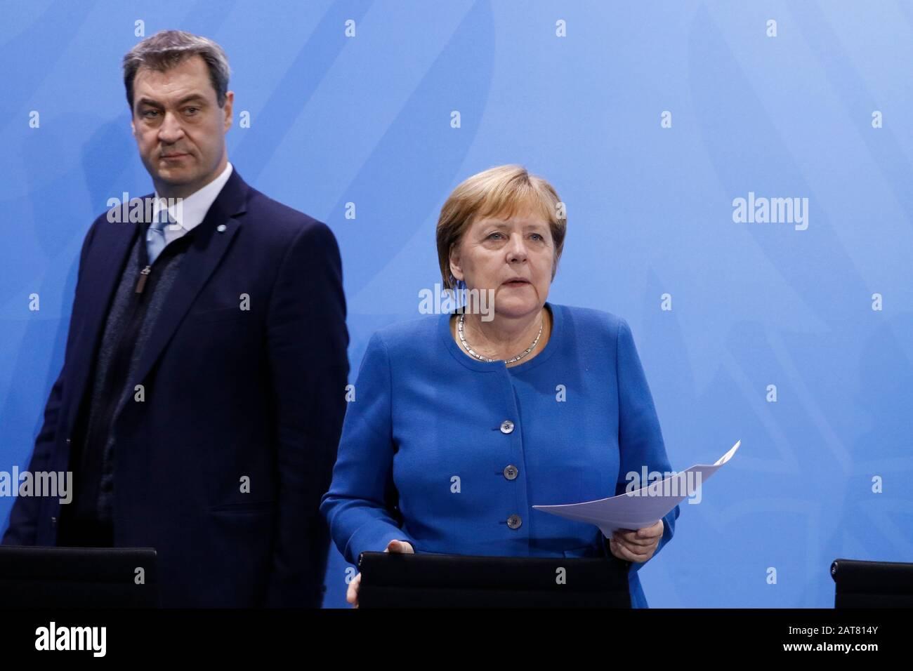 Pressekonferenz Merkel Söder
