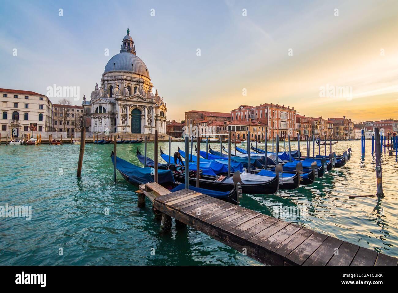 Die Gondeln von Venedig, Itlay Stockfoto