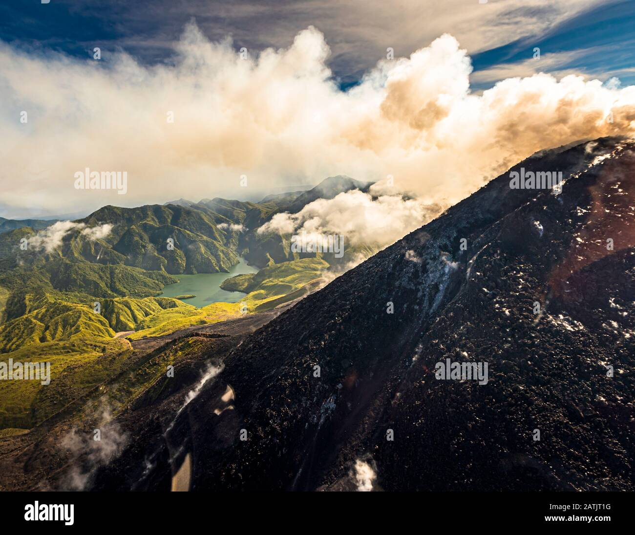 Luftaufnahme von Bougainville, Papua-Neuguinea Stockfoto