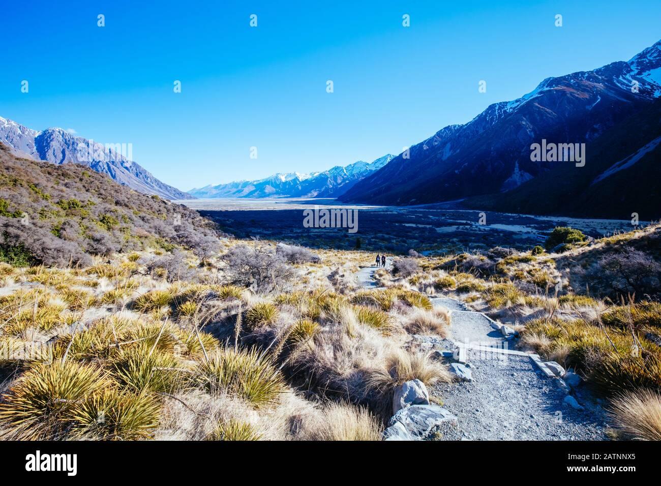 Tasman-Gletscher in der Nähe des Mt Cook in Neuseeland Stockfoto