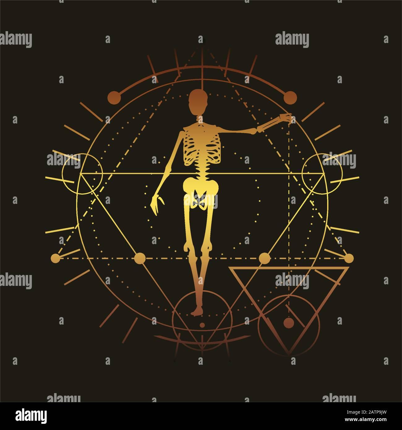 Esoterische mystische Symbole Stock Vektor