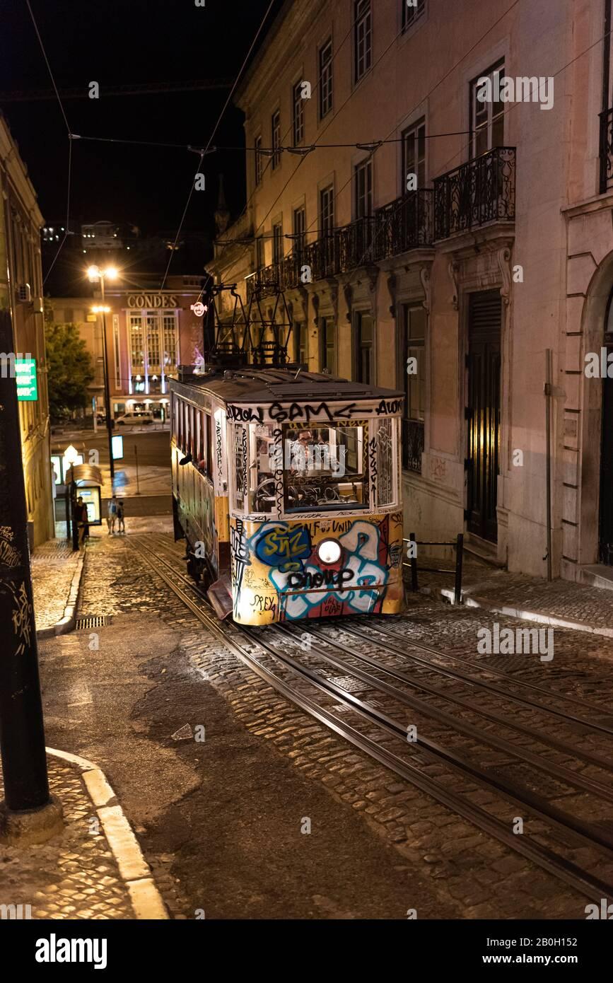 Die Straßen von Lissabon, Portugal. Stockfoto