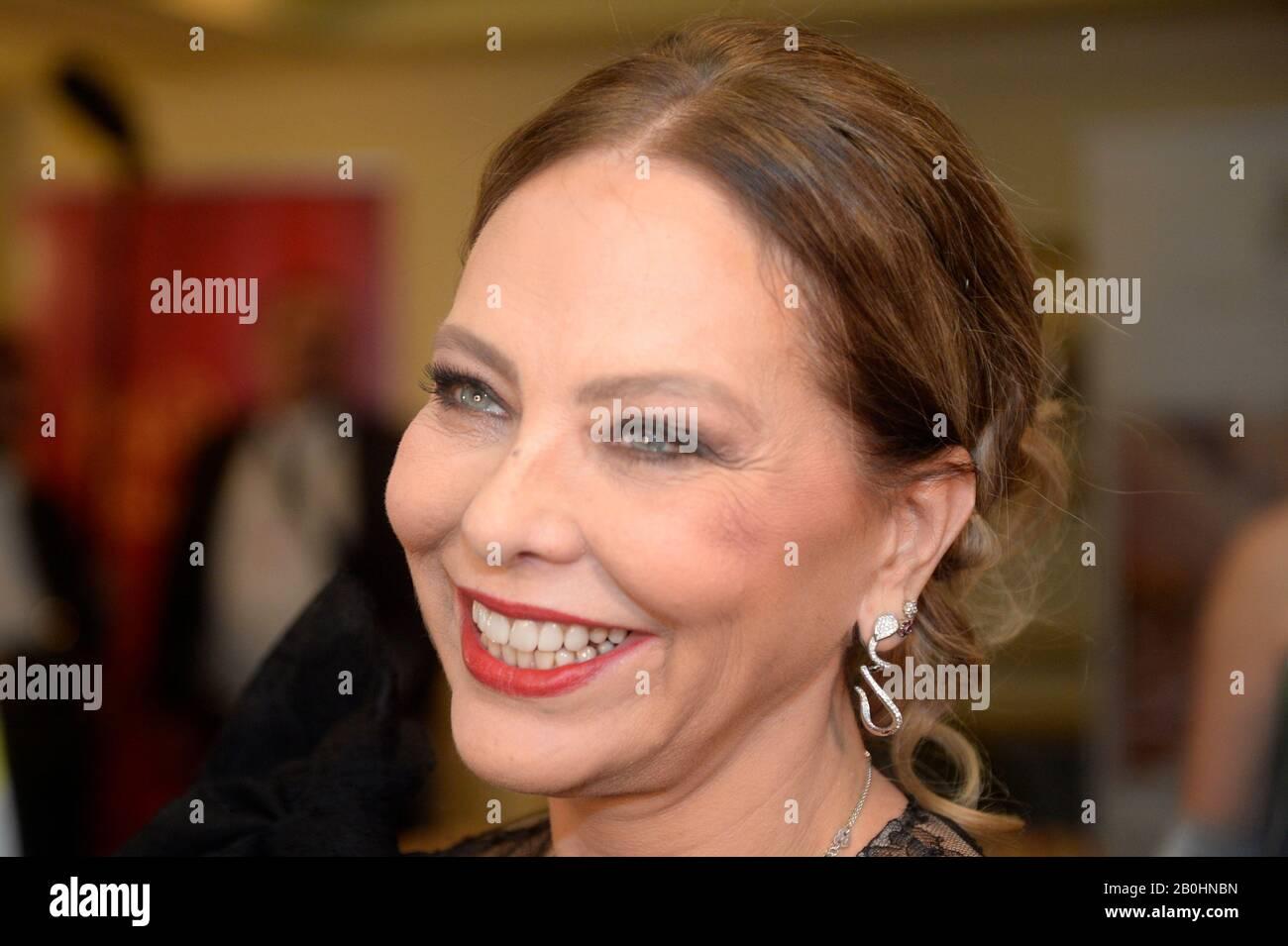 Wien, Österreich. Februar 2020. Fotocall mit Ornella Muti im Abendkleid für den Opernball 2020 in Wien. Kredit: Franz Perc / Alamy Live News Stockfoto