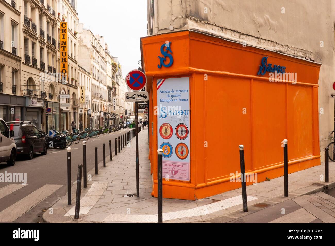 Maison Sajou Nähgeschäft Paris Frankreich Stockfoto