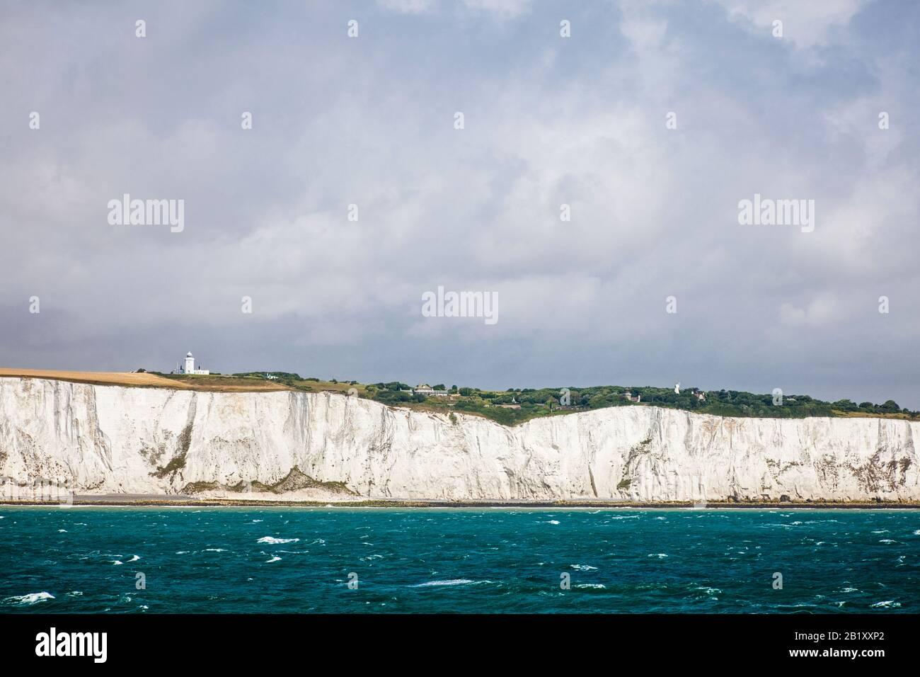 White Cliffs of Dover und The English Channel, Kent, England, Großbritannien Stockfoto