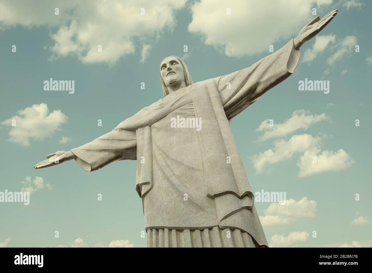 Christus der Erlöser (Cristo Redentor) Statue in Rio de Janeiro, Brasilien Stockfoto
