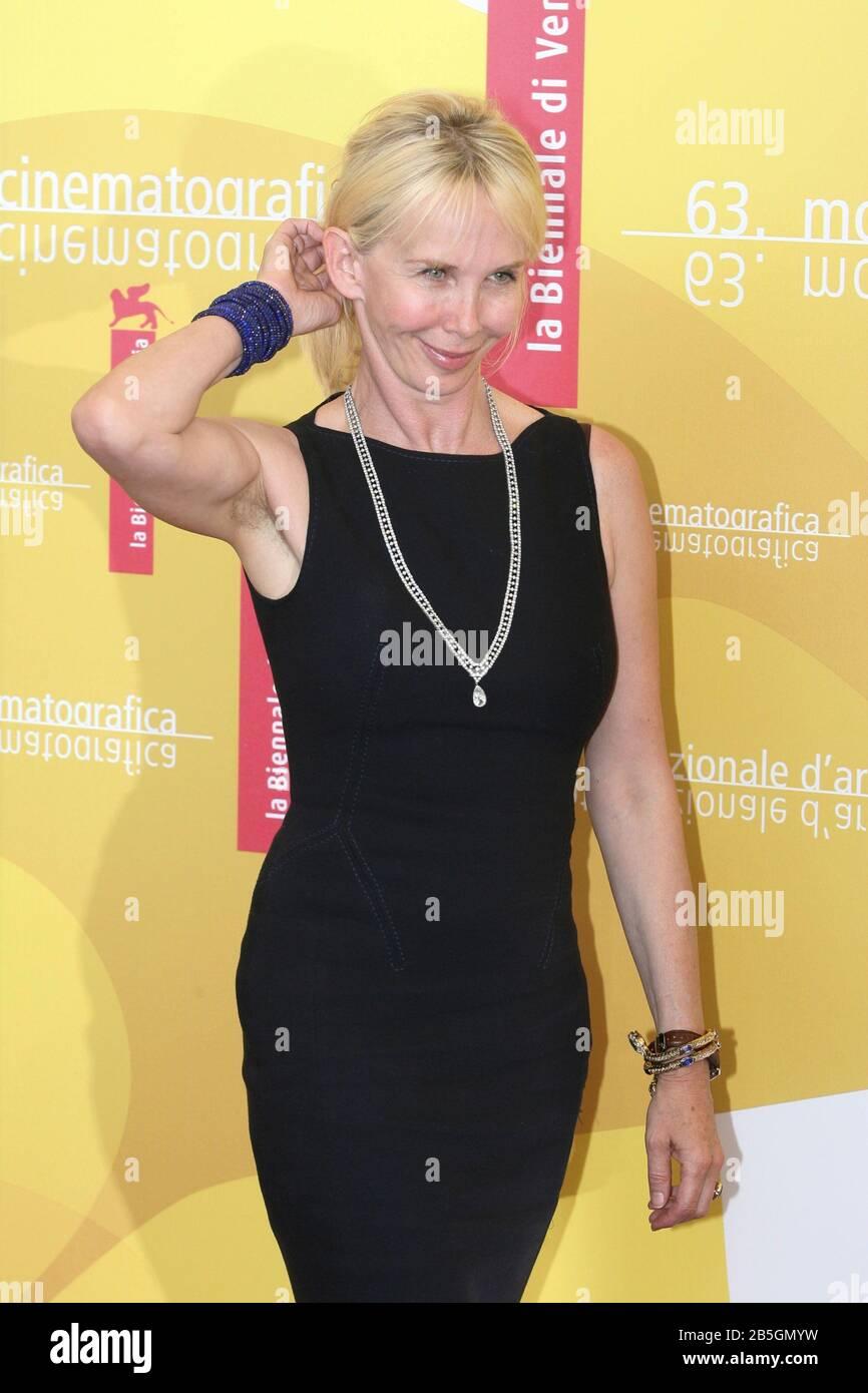 """Venedig, 03/09/2006. 63. Venedig Film Festival. Trudie Styler nimmt an der Fotocall für den Film """"A Guide to Erkenne deine Heiligen"""" unter der Regie von Dito Stockfoto"""