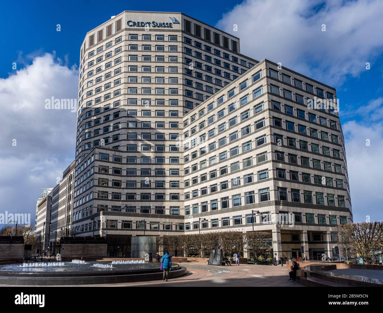 Credit Suisse Canary Wharf London. Credit Suisse UK Büros in ...