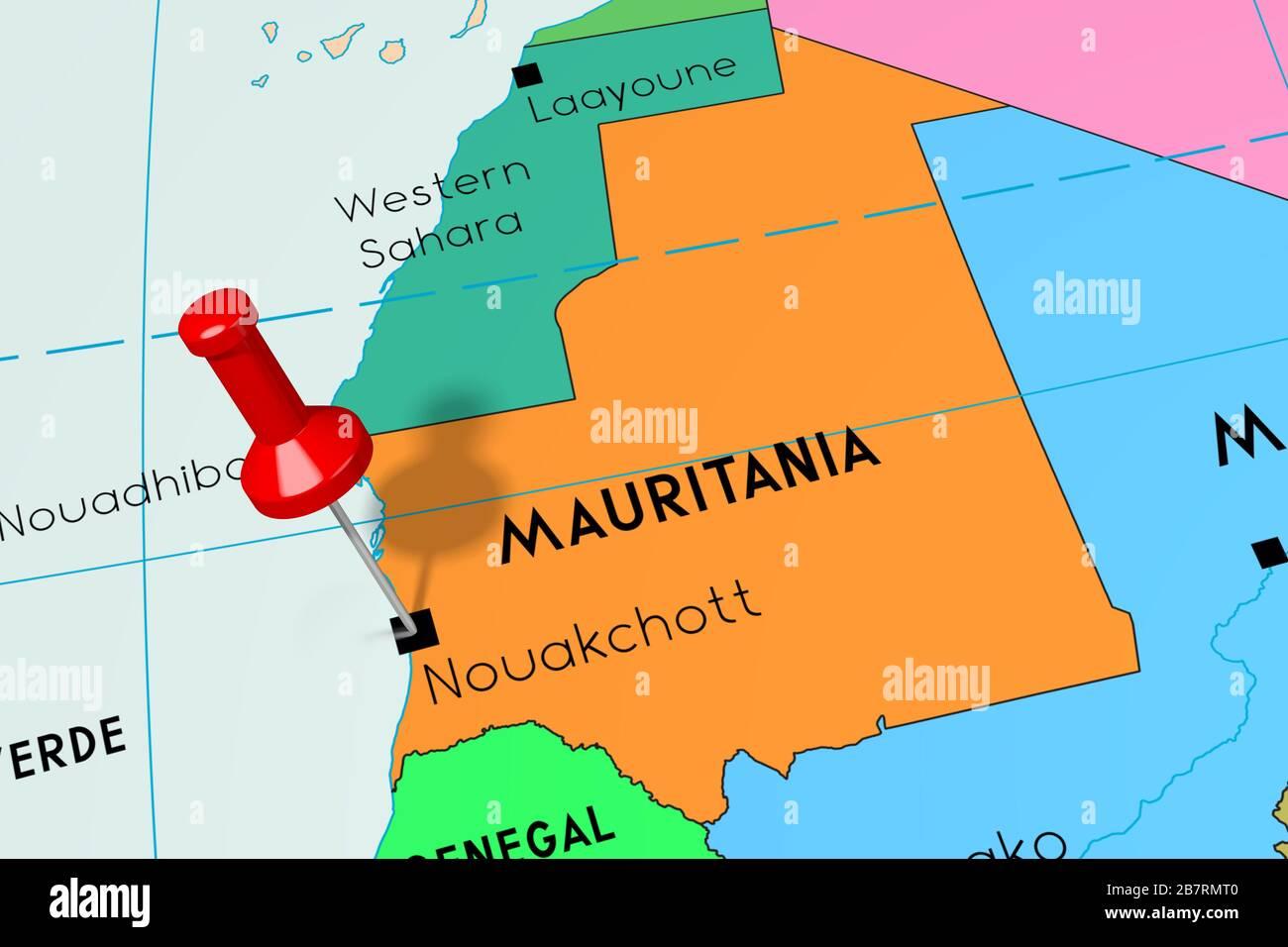 Map Africa Mauritania Stockfotos Und Bilder Kaufen Alamy