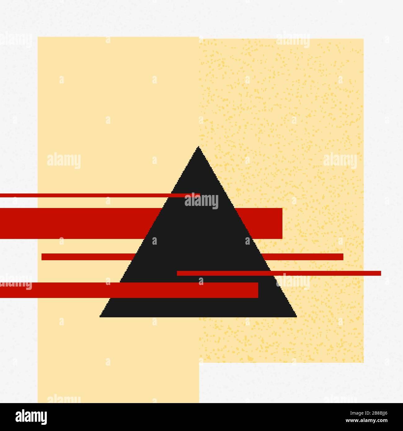 Vektorabstrakte Schwarze Und Rote Formen Konstruktion Kunst Stil Design Geometrische Figuren Schaffen Futuristische Komposition Minimalistisches Modernes Sauberes Poste Stock Vektorgrafik Alamy