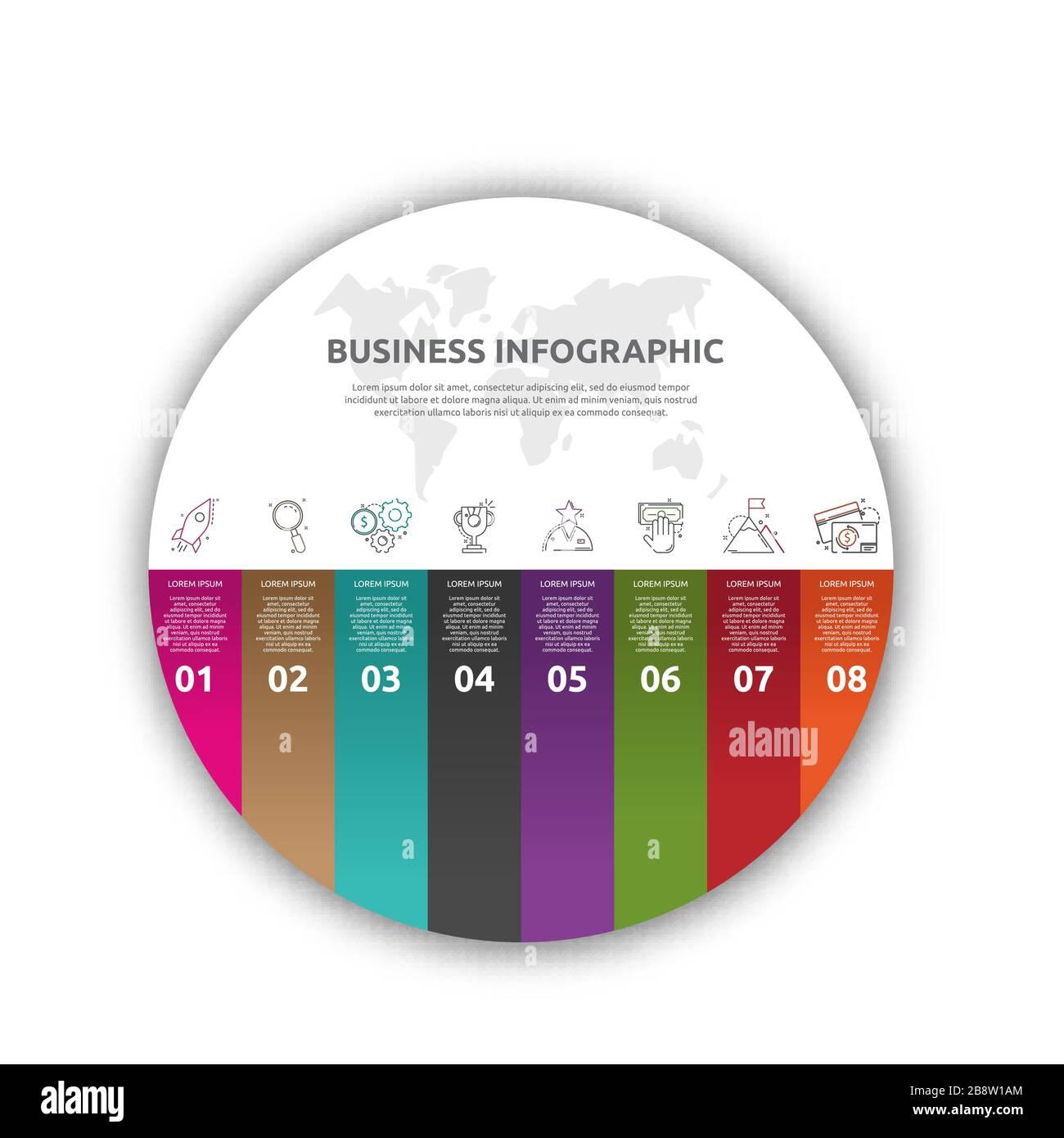 Education Infographics Template Step Option Stockfotos und  bilder ...
