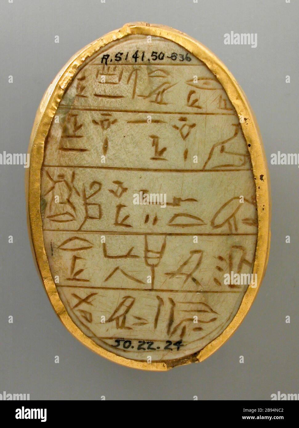 Geflügelter Skarabäus mit grünem Stein Ägypten Käfer Geschenk